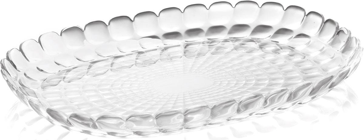 Поднос Guzzini Tiffany, цвет: прозрачный, 32 х 22,5 см27960100Изящный поднос Guzzini Tiffany предназначен стать украшением любого стола.Используйте его для подачи основных блюд, салатов, закусок, десертов ивыпечки. Идеально подходит для сервировки на свежем воздухе - рельефнаяформа подноса в сочетании с прозрачным материалом заставляет поверхностьсверкать и переливаться на свету.Органическое стекло, из которого изготовлен поднос, характеризуетсяустойчивостью к износу и повреждениям. Материал не содержит вредныхпримесей и бисфенола-А.Поднос можно мыть в посудомоечной машине.