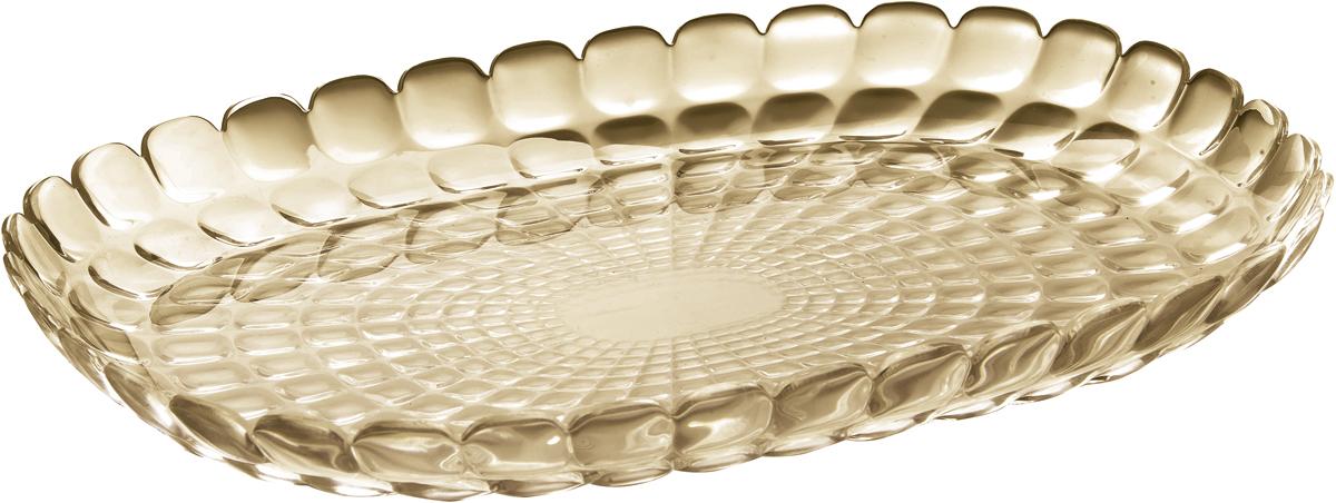 Поднос Guzzini Tiffany, цвет: песочный, 32 х 22,5 см27960139Изящный поднос Guzzini Tiffany предназначен стать украшением любого стола. Используйте его для подачи основных блюд, салатов, закусок, десертов и выпечки. Идеально подходит для сервировки на свежем воздухе - рельефная форма подноса в сочетании с прозрачным материалом заставляет поверхность сверкать и переливаться на свету. Органическое стекло, из которого изготовлен поднос, характеризуется устойчивостью к износу и повреждениям. Материал не содержит вредных примесей и бисфенола-А. Поднос можно мыть в посудомоечной машине.