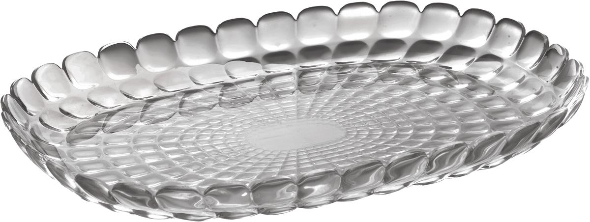 Поднос Guzzini Tiffany, цвет: серый, 32 х 22,5 см27960192Изящный поднос Guzzini Tiffany предназначен стать украшением любого стола. Используйте его для подачи основных блюд, салатов, закусок, десертов и выпечки. Идеально подходит для сервировки на свежем воздухе - рельефная форма подноса в сочетании с прозрачным материалом заставляет поверхность сверкать и переливаться на свету.Органическое стекло, из которого изготовлен поднос, характеризуется устойчивостью к износу и повреждениям. Материал не содержит вредных примесей и бисфенола-А.Поднос можно мыть в посудомоечной машине.