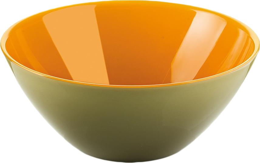 Салатник Guzzini My Fusion, цвет: зеленый, оранжевый, диаметр 20 см, 1,15 л281420142Минималистский дизайн салатника Guzzini My Fusion неслучайно напоминает о древних традициях восточной лакировки: вся коллекция была создана японскими дизайнерами, сотрудничающими с Guzzini. Строгие и простые формы, в которых нет ничего лишнего, гармонично сочетаются с теплыми осенними цветами и яркими экзотическими оттенками, а глянцевая внутренняя поверхность и матовая внешняя только подчеркивают цветовой контраст.Салатник подойдет для подачи десертов, выпечки, мороженого и других блюд, а также может служить изящным декоративным элементом вашего дома. Изготовлен из безопасного высококачественного пластика, устойчивого к износу и повреждениям. Можно мыть в посудомоечной машине.
