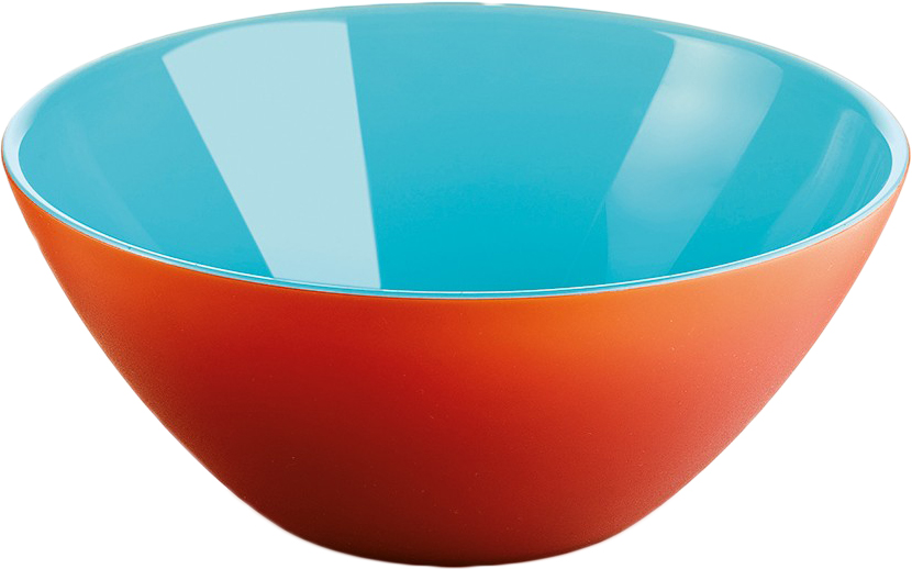 Салатница Guzzini My Fusion, цвет: красный, голубой, 20 см, 1,15 л281420144Минималистский дизайн салатницы My Fusion неслучайно напоминает о древних традициях восточной лакировки: вся коллекция была создана японскими дизайнерами, сотрудничающими с Guzzini. Строгие и простые формы, в которых нет ничего лишнего, гармонично сочетаются с теплыми осенними цветами и яркими экзотическими оттенками, а глянцевая внутренняя поверхность и матовая внешняя только подчеркивают цветовой контраст.Салатница подойдет для подачи десертов, выпечки, мороженого и других блюд, а так же может служить изящным декоративным элементом вашего дома. Объем 1,15 л. Изготовлена из безопасного высококачественного пластика, устойчивого к износу и повреждениям.