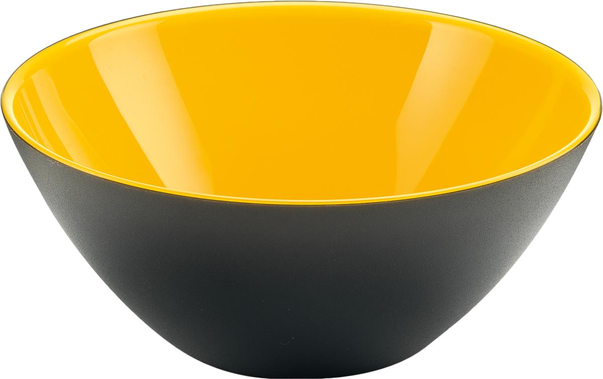 Салатник Guzzini My Fusion, цвет: черный, желтый, диаметр 20 см, 1,15 л281420168Минималистский дизайн салатника Guzzini My Fusion неслучайно напоминает о древних традициях восточной лакировки: вся коллекция была создана японскими дизайнерами, сотрудничающими с Guzzini. Строгие и простые формы, в которых нет ничего лишнего, гармонично сочетаются с теплыми осенними цветами и яркими экзотическими оттенками, а глянцевая внутренняя поверхность и матовая внешняя только подчеркивают цветовой контраст.Салатник подойдет для подачи десертов, выпечки, мороженого и других блюд, а также может служить изящным декоративным элементом вашего дома.Изготовлен из безопасного высококачественного пластика, устойчивого к износу и повреждениям. Можно мыть в посудомоечной машине.