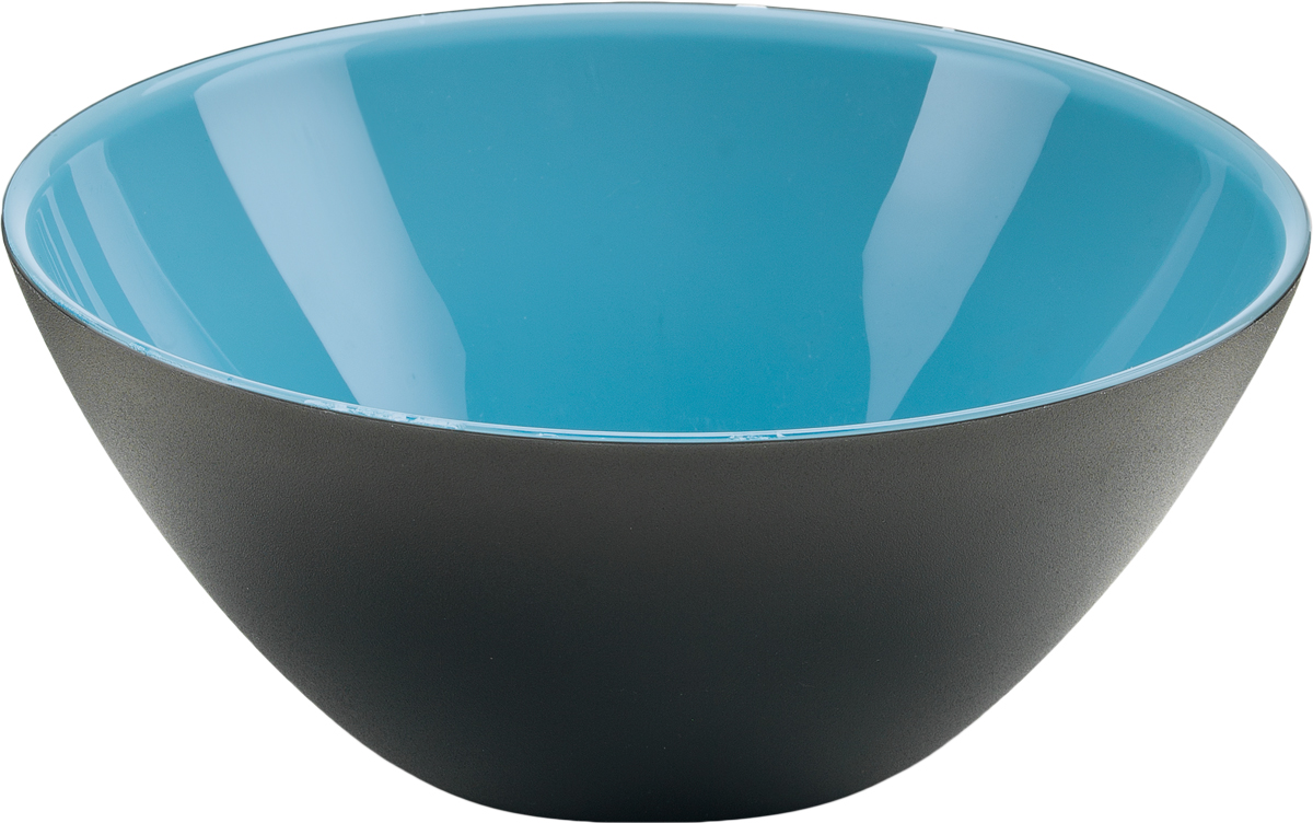 Салатница Guzzini My Fusion, цвет: голубой, 20 см, 1,15 л281420170Минималистский дизайн салатницы My Fusion неслучайно напоминает о древних традициях восточной лакировки: вся коллекция была создана японскими дизайнерами, сотрудничающими с Guzzini. Строгие и простые формы, в которых нет ничего лишнего, гармонично сочетаются с теплыми осенними цветами и яркими экзотическими оттенками, а глянцевая внутренняя поверхность и матовая внешняя только подчеркивают цветовой контраст.Салатница подойдет для подачи десертов, выпечки, мороженого и других блюд, а также может служить изящным декоративным элементом вашего дома. Объем 1,15 л. Изготовлена из безопасного высококачественного пластика, устойчивого к износу и повреждениям. Можно мыть в посудомоечной машине.