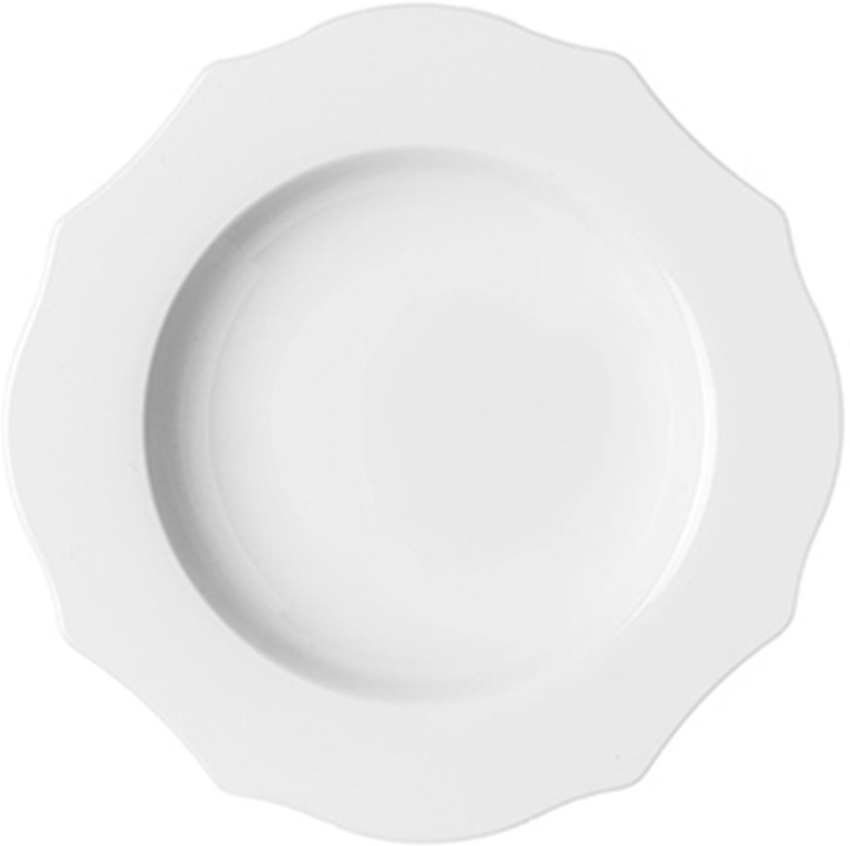 Тарелка для супа Guzzini Belle Epoque, цвет: белый, диаметр 24 см29140111Тарелка для супа Guzzini Belle Epoque выполнена из фарфора. Главная идея коллекции Belle Epoque - воплотить в современном дизайне классические формы и элементы прошлого, используя новейшие материалы и способы производства. Неровные, угловатые края тарелки в сочетании с чистым белым цветом добавляют ей изысканности и лаконичности, которая украсит стол как в праздничные дни, так и в будни. Используйте глубокую тарелку для подачи горячих и холодных супов, солянок и каш. Можно мыть в посудомоечной машине и использовать в микроволновой печи.