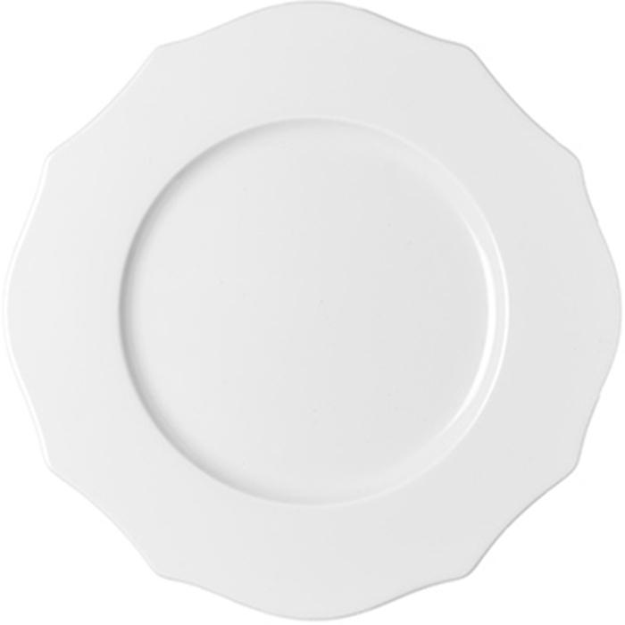 Тарелка обеденная Guzzini Belle Epoque, цвет: белый, диаметр 27 см29140211Главная идея коллекции Belle Epoque - воплотить в современном дизайне классические формы и элементы прошлого, используя новейшие материалы и способы производства.Тарелка выполнена из фарфора. Неровные, угловатые края тарелки в сочетании с чистым белым цветом добавляют ей изысканности и лаконичности, которая украсит стол как в праздничные дни, так и в будни. Используйте обеденную тарелку для подачи рыбы, мяса, вторых блюд и гарниров. Можно мыть в посудомоечной машине и использовать в микроволновой печи.