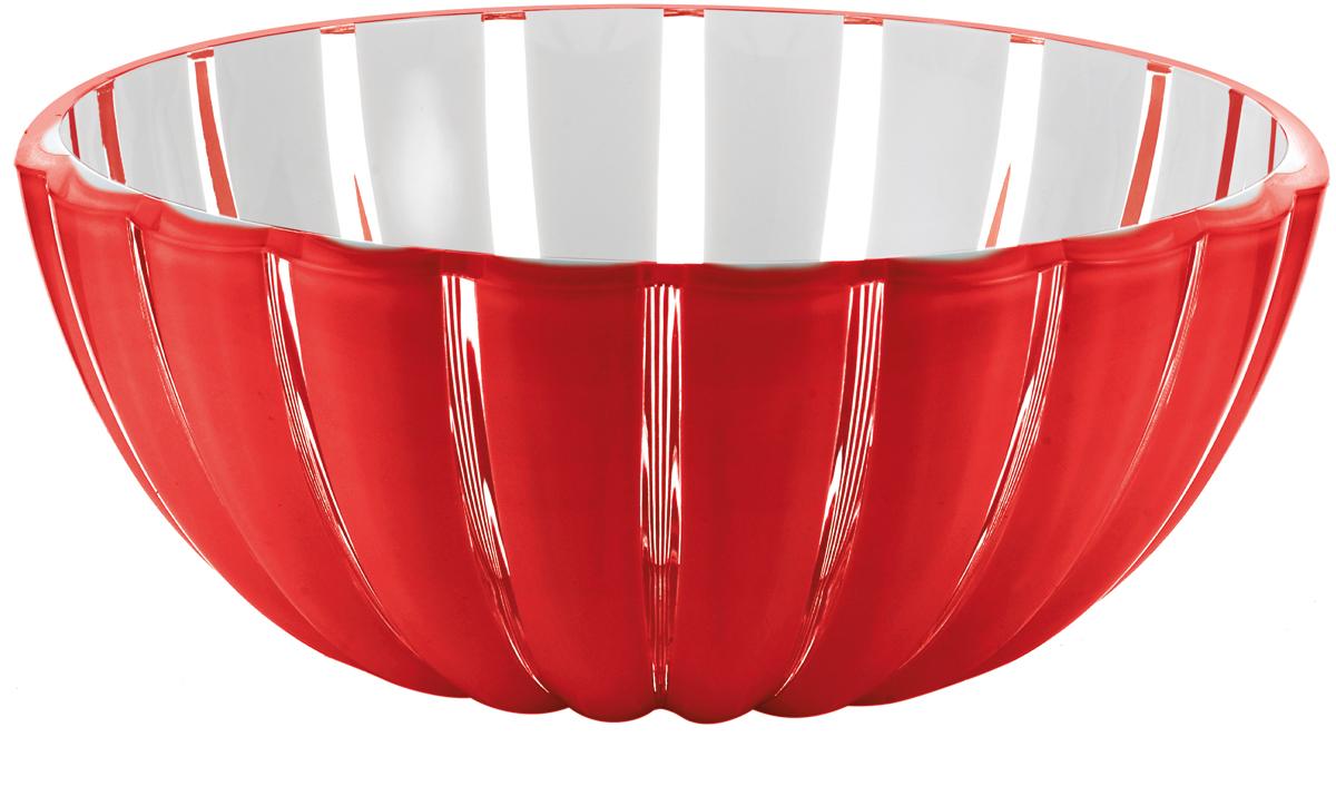 Миска Guzzini Grace, цвет: красный, 12 см29691265Миска Grace выглядит настолько изящно, что кажется, будто она сделана из стекла. Её главный секрет - необычная форма, в которой внешние, объемные и волнообразные края контрастируют с белоснежной и гладкой внутренней поверхностью. Вместе они образуют уникальный рельефный эффект, который усиливается на свету.Вместительность миски позволит использовать её для подачи фруктов, десертов и закусок. Объем - 300 мл. Материал - органическое стекло. Можно мыть в посудомоечной машине.