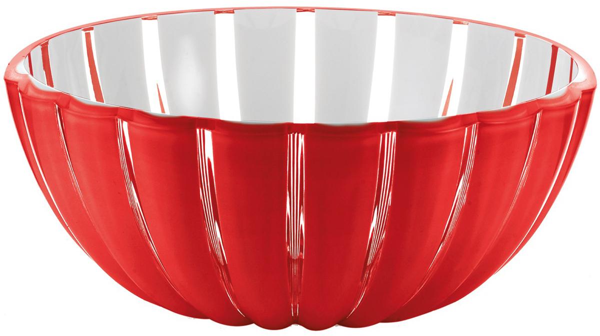 Салатница Guzzini Grace, цвет: красный, 30 см, 4,9 л29693065Салатница Grace выглядит настолько изящно, что кажется, будто она сделана из стекла. Её главный секрет - необычная форма, в которой внешние, объемные и волнообразные края контрастируют с белоснежной и гладкой внутренней поверхностью. Вместе они образуют уникальный рельефный эффект, который усиливается на свету. Вместительность салатницы позволит использовать её для подачи фруктов, десертов, закусок и основных блюд.Объем - 4,9 л. Материал - органическое стекло. Можно мыть в посудомоечной машине.