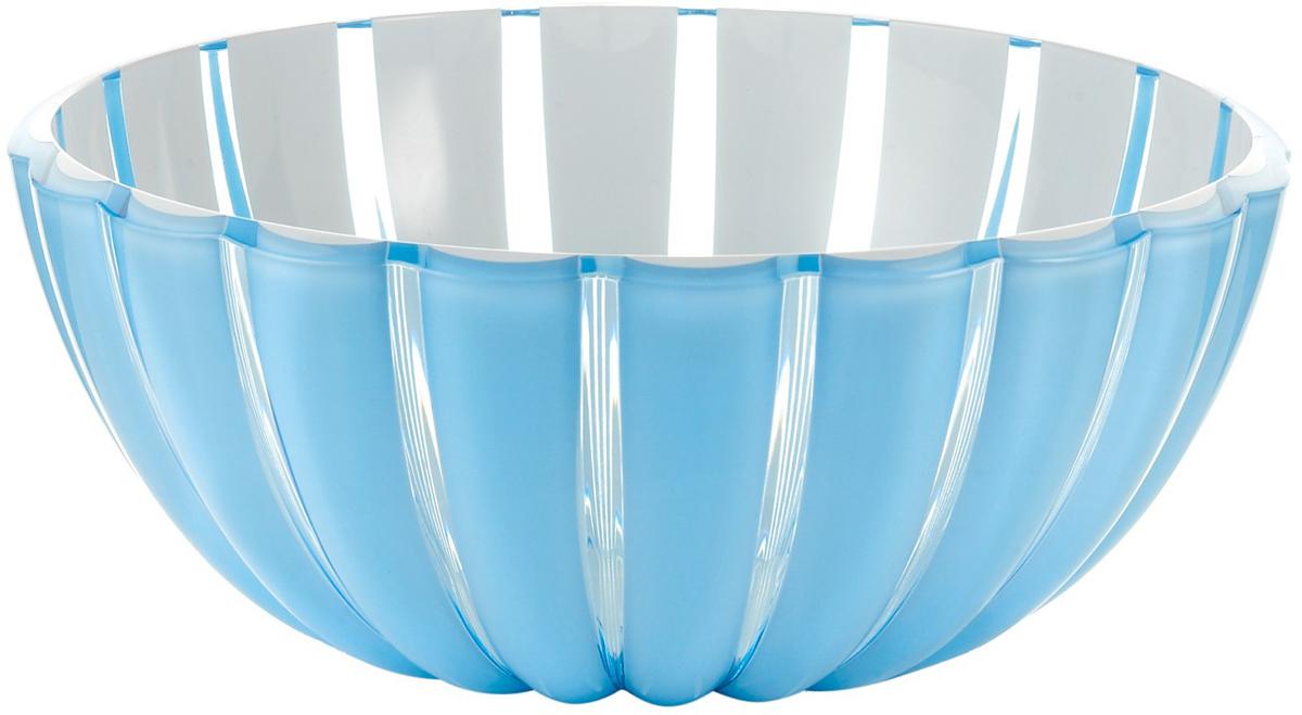 Салатница Guzzini Grace, цвет: голубой, 30 см, 4,9 л29693081Салатница Grace выглядит настолько изящно, что кажется, будто она сделана из стекла. Её главный секрет - необычная форма, в которой внешние, объемные и волнообразные края контрастируют с белоснежной и гладкой внутренней поверхностью. Вместе они образуют уникальный рельефный эффект, который усиливается на свету.Вместительность салатницы позволит использовать её для подачи фруктов, десертов, закусок и основных блюд. Объем - 4,9 л. Материал - органическое стекло. Можно мыть в посудомоечной машине.