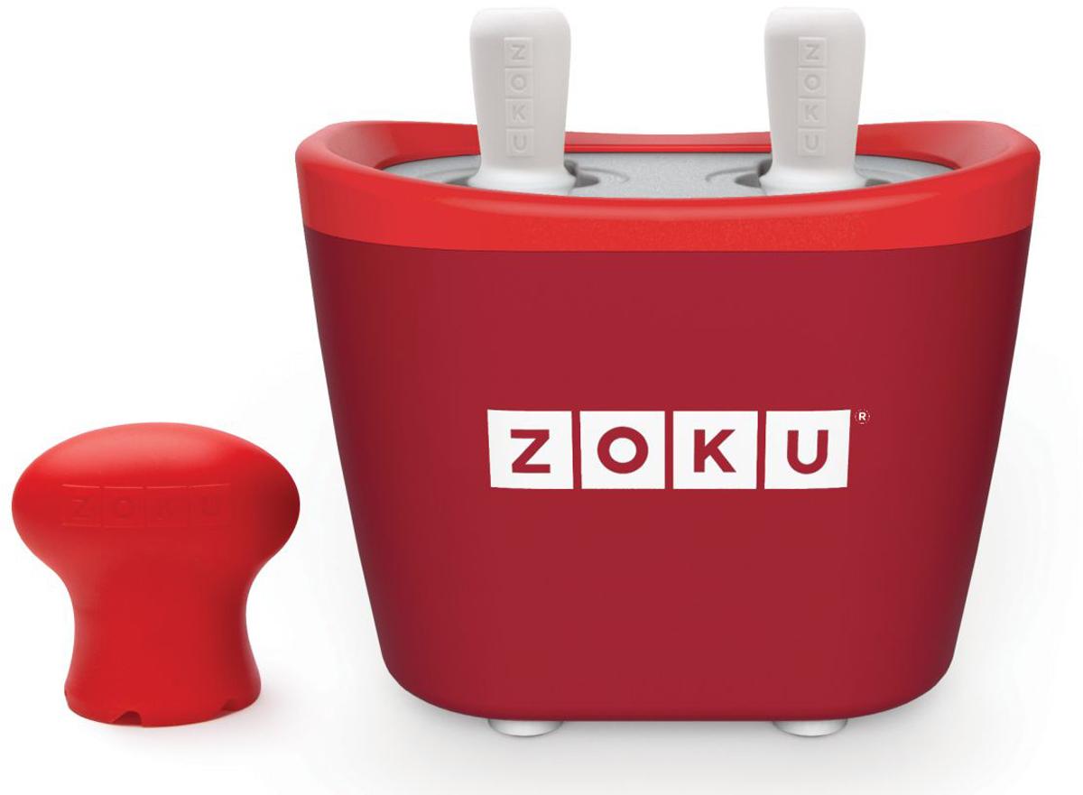 Набор для приготовления мороженого Zoku Duo Quick Pop Maker, цвет: красный, 2 х 60 мл. ZK107-RDZK107-RDС компактной и удобной формой Quick Pop Maker можно приготовить домашний фруктовый лед из полностью натуральных ингредиентов. В набор помимо формы для мороженого входят четыре палочки, а к ним четыре небольших поддона для капель и съемная насадка. Как использовать:1. Поместите пустую форму в морозильную камеру на 24 часа. Форма должна быть абсолютно сухой и располагаться вертикально.2. Через сутки вытащите форму из морозилки и вставьте в нее палочки. Залейте охлажденный сок в емкость до отметки. Через 7-10 минут фруктовый лед готов.3. Поместите съемную насадку на палочку и закрутите по часовой стрелке до упора. Когда ручка начнет свободно крутиться, смените направление и откручивайте против часовой стрелки, чтобы вытащить мороженое из формы.Объем одной емкости - 60 мл. Форма не содержит вредных примесей и бисфенола-А. Устройство работает без электричества и позволяет приготовить до 6 порций от одной заморозки. Моется вручную. Не используйте простую и газированную воду или полностью пресные напитки без сахара в приборе Quick Pop. В результате использования воды или напитков без сахара будет крайне тяжело достать продукт из прибора, а также можно повредить насадку или палочку.