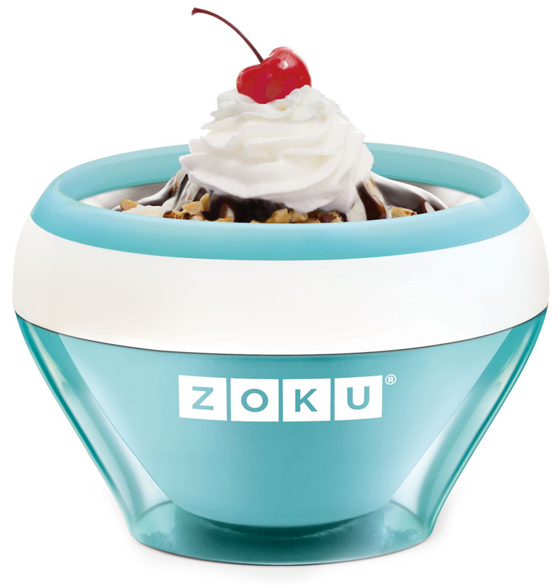 Мороженица Zoku Ice Cream Maker, цвет: голубой, 150 мл. ZK120-LBZK120-LBС помощью компактного Ice Cream Maker вы сможете быстро и без усилий приготовить натуральные домашние десерты: мороженое, сорбет, щербет, замороженный йогурт, заварной крем и прочие лакомства. Почувствуйте себя настоящим профессионалом – создавайте вкусные и полезные десерты на основе натуральных ингредиентов. Комбинируйте вкусовые добавки и украшайте готовое мороженое фруктами, сладкими или пряными присыпками, орехами и шоколадом. Как использовать: 1. Поместите внутреннюю пустую форму в морозильную камеру на двенадцать и более часов. Форма должна быть абсолютно сухой и располагаться вертикально.2. Через двенадцать часов верните её во внешний корпус и наполните желаемыми продуктами. Все ингредиенты должны быть охлажденными.3. Сразу начинайте перемешивать массу с помощью специальной ложки. Не давайте краям примерзнуть к форме. Через 7-10 минут ваш десерт готов. Для получения твердого мороженого поместите форму в морозильную камеру на дополнительные 10-15 минут. Объем - 150 мл. Не содержит вредных примесей и бисфенола-А. Не подходит для использования в микроволновой печи. Моется вручную.