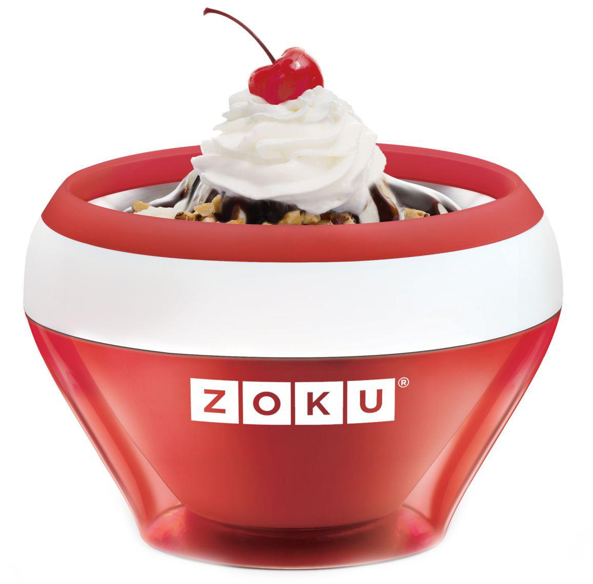 Форма для мороженого Zoku Ice Cream Maker, цвет: красный, 150 мл. ZK120-RD851318С формы для мороженого Zoku Ice Cream Maker вы сможете быстро и без усилий приготовить натуральные домашние десерты - мороженое, сорбет, щербет, замороженный йогурт, заварной крем и прочие лакомства. Почувствуйте себя настоящим профессионалом – создавайте вкусные и полезные десерты на основе натуральных ингредиентов. Комбинируйте вкусовые добавки и украшайте готовое мороженое фруктами, сладкими или пряными присыпками, орехами и шоколадом.Применение: поместите внутреннюю пустую форму в морозильную камеру на двенадцать и более часов. Форма должна быть абсолютно сухой и располагаться вертикально. Через двенадцать часов верните ее во внешний корпус и наполните желаемыми продуктами. Все ингредиенты должны быть охлажденными. Сразу начинайте перемешивать массу с помощью специальной ложки. Не давайте краям примерзнуть к форме. Через 7-10 минут ваш десерт готов. Для получения твердого мороженого поместите форму в морозильную камеру на дополнительные 10-15 минут. Не содержит вредных примесей и бисфенола-А. Не подходит для использования в микроволновой печи.Размеры: 13,8 х 9,4 х 13,8 см.