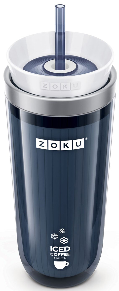 Стакан Zoku Iced Coffee Maker, для охлаждения напитков, цвет: серый, 325 млZK121-GYХотите быстро превратить горячий кофе или чай в охлажденный напиток, не разбавляя его с помощью льда и не теряя вкусовые качества? Тогда Iced Coffee Maker - это именно то, что вам нужно! С помощью этой кружки можно наслаждаться восхитительными холодными напитками, не теряя много времени на их приготовление. Стакан состоит из внутренней формы из нержавеющей стали, внешнего защитного корпуса, полностью герметичной крышки и цветной трубочки. Как использовать: 1. Поместите пустой внутренний стакан в морозильную камеру на восемь и более часов. Он должен быть абсолютно сухим и располагаться вертикально.2. Через установленное время вытащите стакан из морозилки и вставьте в защитный корпус. Залейте горячий чай, кофе или любой другой напиток. Закройте стакан крышкой и вставьте трубочку.3. Через 7-8 минут ваш охлажденный напиток готов. Не содержит вредных примесей и бисфенола-А. Моется вручную.