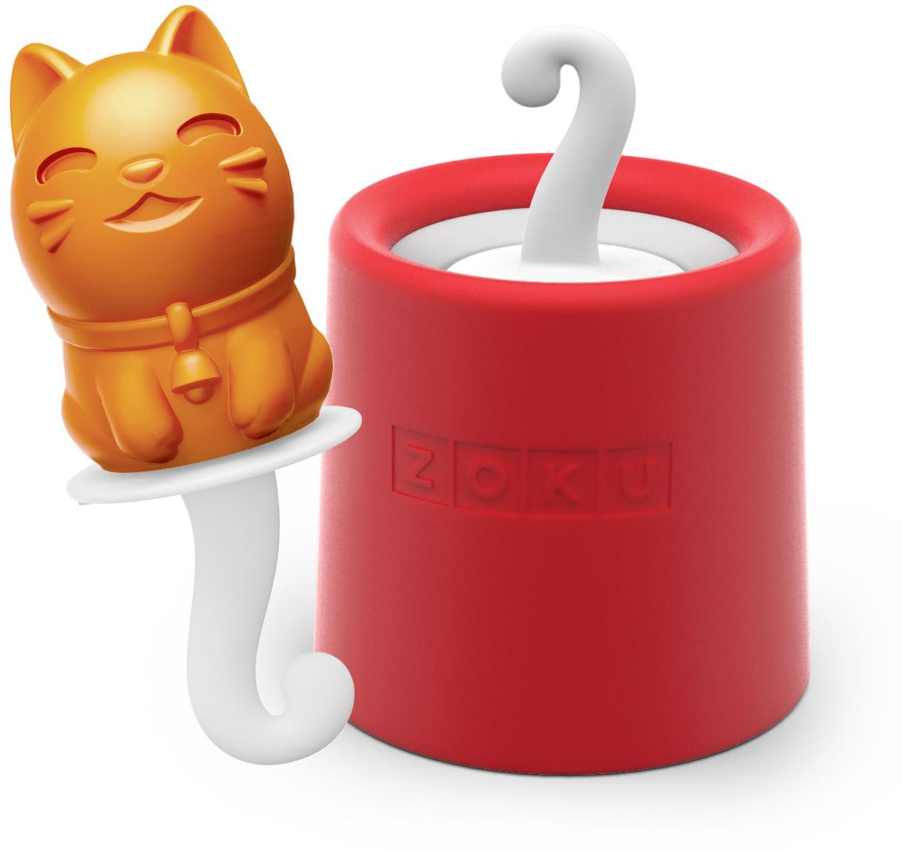 Форма для мороженого Zoku Kitty, цвет: красный, 45 мл. ZK123-00916065_бежевыйУникальная коллекция формочек для мороженого включает в себя 8 разных фигурок, с помощью которых вы сможете готовить вкусные и полезные домашние десерты. Теперь каждому члену семьи достанется свой персонаж, и не придется путаться в том, кому и какое лакомство принадлежит.Для приготовления мороженого залейте жидкость в форму Zoku Kitty до отметки и вставьте внутрь палочку. Оставьте в морозильной камере на восемь и более часов. Когда продукт готов, просто вытащите палочку и наслаждайтесь натуральным десертом собственного приготовления.Форма не содержит вредных примесей и бисфенола-А. Моется вручную.Объем - 45 мл.