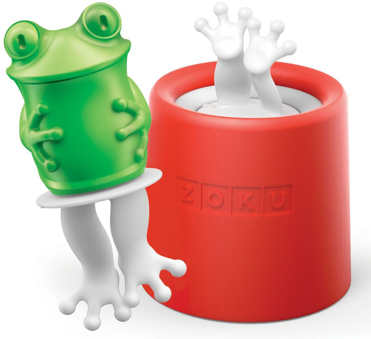 Форма для мороженого Zoku Frog, 8 х 45 мл. ZK123-011ZK123-011Уникальная коллекция формочек для мороженого Zoku включает в себя 8 разных фигурок, с помощью которых вы сможете готовить вкусные и полезные домашние десерты. Теперь каждому члену семьи достанется свой персонаж, и не придется путаться в том, кому и какое лакомство принадлежит. Изделия выполнены из полипропилена и силикона. Для приготовления мороженого залейте жидкость в форму до отметки и вставьте внутрь палочку. Оставьте в морозильной камере на восемь и более часов. Когда продукт готов, просто вытащите палочку и наслаждайтесь натуральным десертом собственного приготовления.Объем - 45 мл. Форма не содержит вредных примесей и бисфенола-А. Моется вручную.