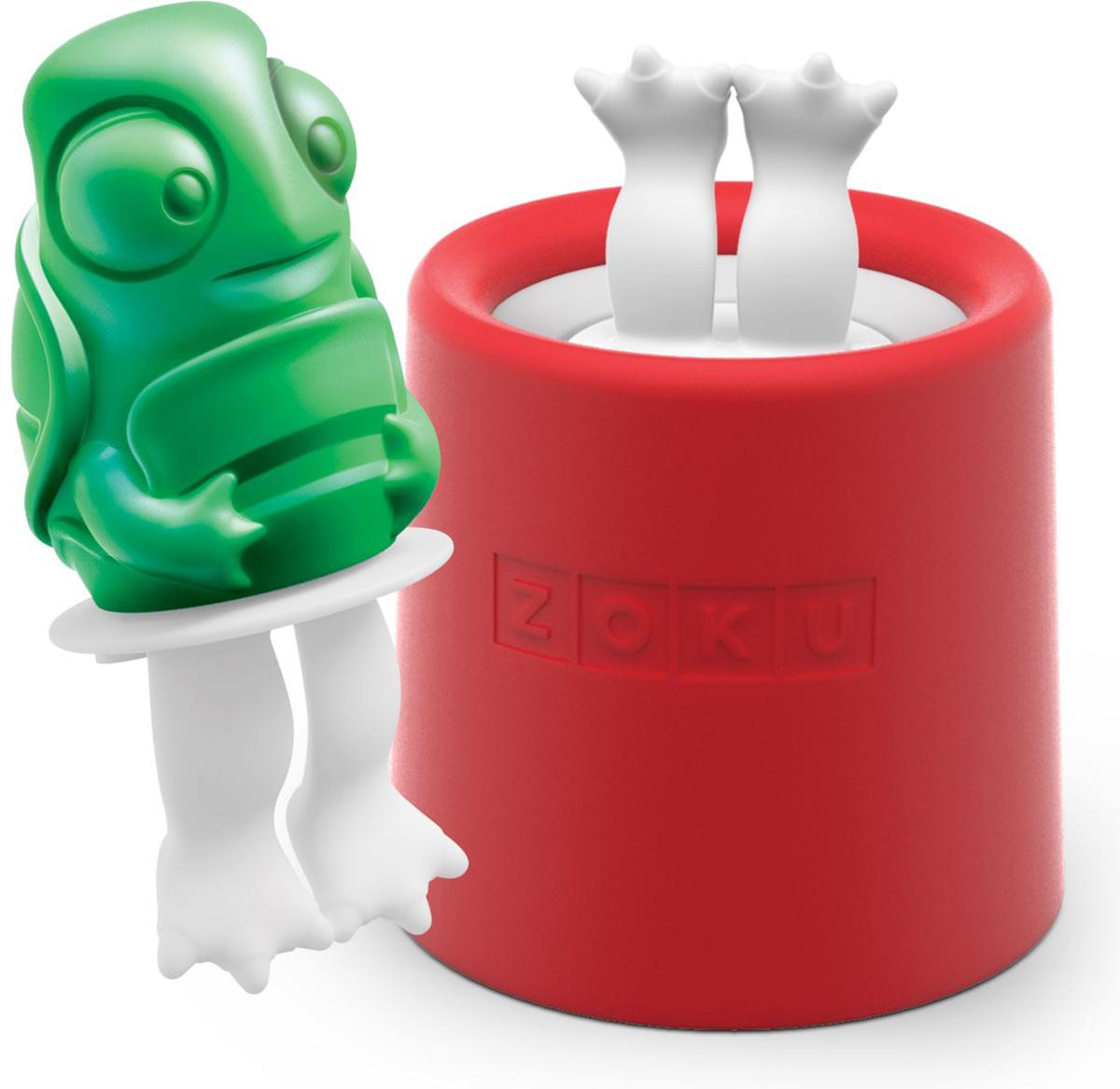 Форма для мороженого Zoku Turtle, цвет: красный, 45 мл. ZK123-012ZK123-012Уникальная коллекция формочек для мороженого включает в себя 8 разных фигурок, с помощью которых вы сможете готовить вкусные и полезные домашние десерты. Теперь каждому члену семьи достанется свой персонаж, и не придется путаться в том, кому и какое лакомство принадлежит. Для приготовления мороженого залейте жидкость в форму до отметки и вставьте внутрь палочку. Оставьте в морозильной камере на восемь и более часов. Когда продукт готов, просто вытащите палочку и наслаждайтесь натуральным десертом собственного приготовления. Объем - 45 мл. Форма не содержит вредных примесей и бисфенола-А. Моется вручную.