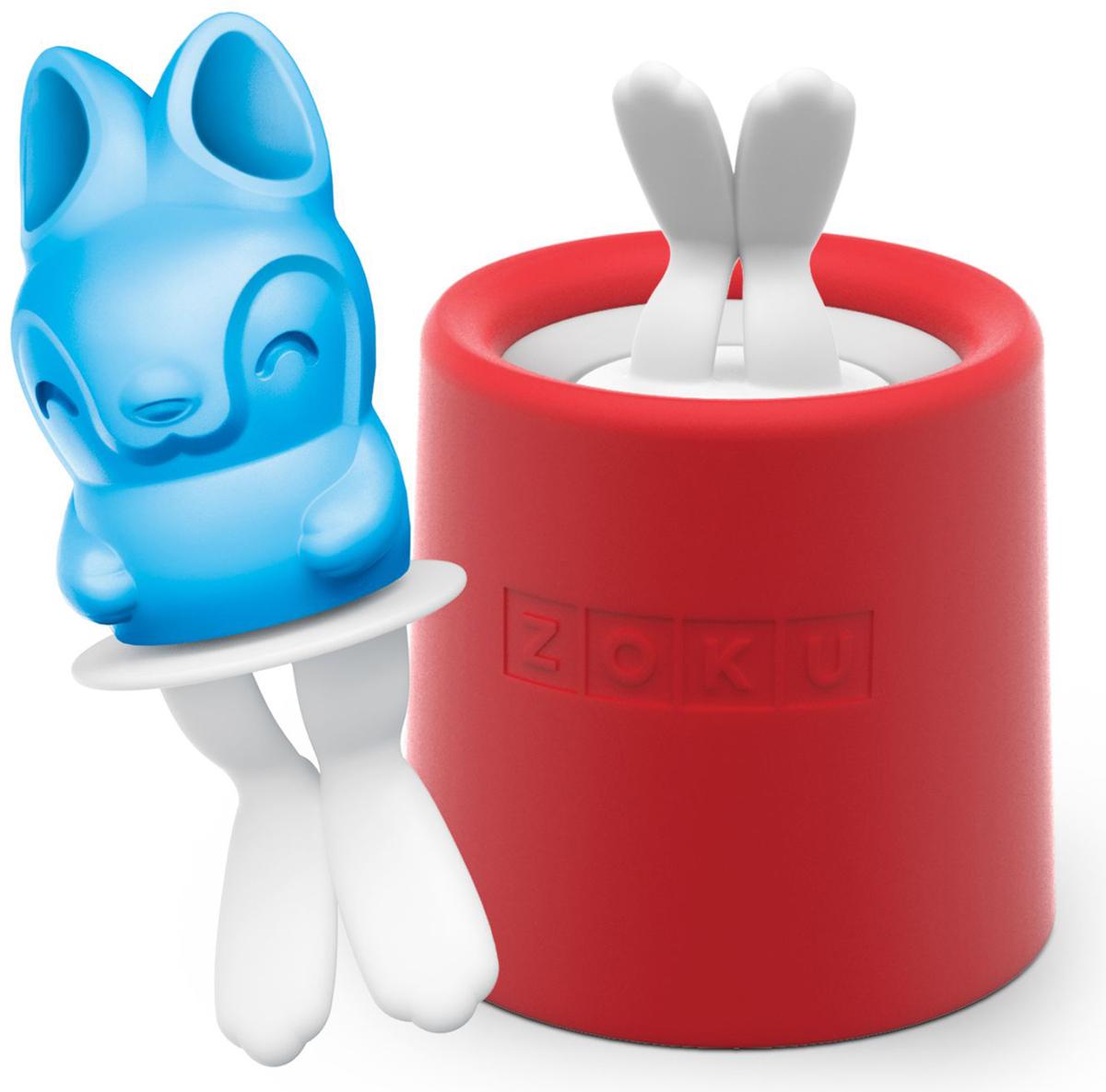 Форма для мороженого Zoku Bunny Ice, цвет: красный, 45 мл. ZK123-013ZK123-013Уникальная коллекция формочек для мороженого включает в себя 8 разных фигурок, с помощью которых вы сможете готовить вкусные и полезные домашние десерты. Теперь каждому члену семьи достанется свой персонаж, и не придется путаться в том, кому и какое лакомство принадлежит. Для приготовления десерта залейте жидкость в формуZoku Bunny Ice до отметки и вставьте внутрь палочку. Оставьте в морозильной камере на восемь и более часов. Когда продукт готов, просто вытащите палочку и наслаждайтесь натуральным мороженым собственного приготовления. Форма не содержит вредных примесей и бисфенола-А. Моется вручную.Объем - 45 мл.