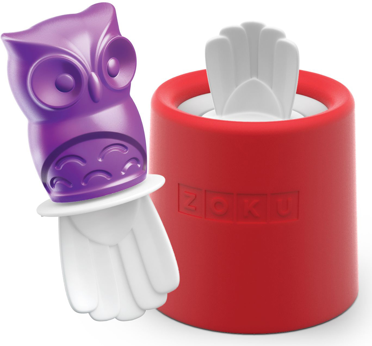 Форма для мороженого Zoku Owl, цвет: красный, 45 мл. ZK123-014300333Уникальная коллекция формочек для мороженого включает в себя 8 разных фигурок, с помощью которых вы сможете готовить вкусные и полезные домашние десерты. Теперь каждому члену семьи достанется свой персонаж, и не придется путаться в том, кому и какое лакомство принадлежит.Для приготовления мороженого залейте жидкость в форму Zoku Owl до отметки и вставьте внутрь палочку. Оставьте в морозильной камере на восемь и более часов. Когда продукт готов, просто вытащите палочку и наслаждайтесь натуральным десертом собственного приготовления.Форма не содержит вредных примесей и бисфенола-А. Моется вручную. Объем - 45 мл.