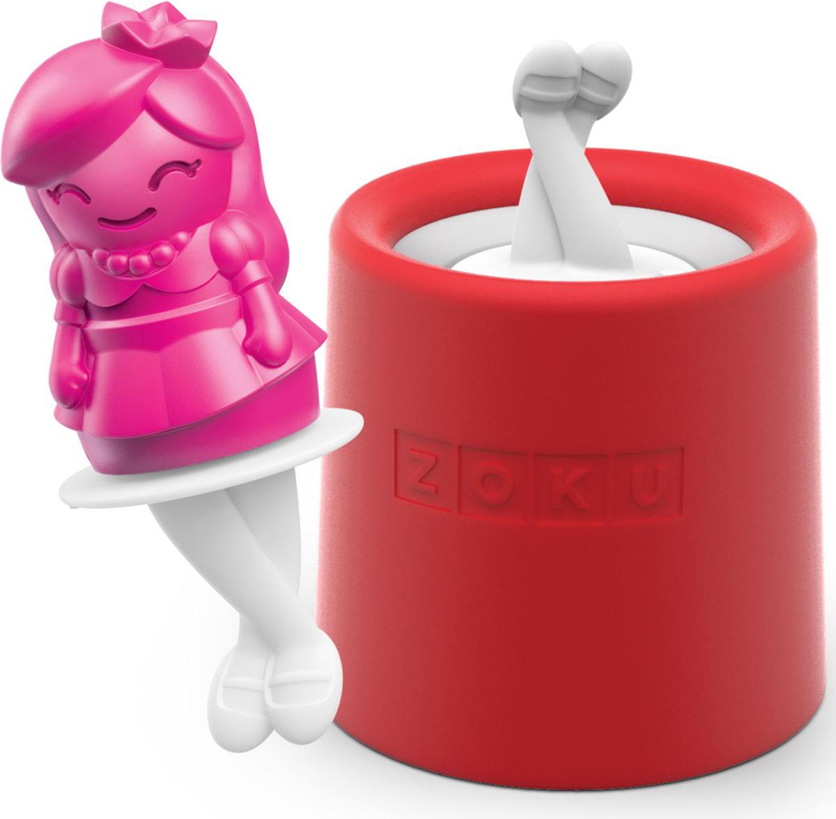 Форма для мороженого Zoku Princess, 45 мл. ZK123-015ZK123-015Уникальная коллекция формочек для мороженого включает в себя 8 разных фигурок, с помощью которых вы сможете готовить вкусные и полезные домашние десерты. Теперь каждому члену семьи достанется свой персонаж, и не придется путаться в том, кому и какое лакомство принадлежит. Для приготовления мороженого залейте жидкость в форму до отметки и вставьте внутрь палочку. Оставьте в морозильной камере на восемь и более часов. Когда продукт готов, просто вытащите палочку и наслаждайтесь натуральным десертом собственного приготовления. Объем - 45 мл. Форма не содержит вредных примесей и бисфенола-А. Моется вручную.