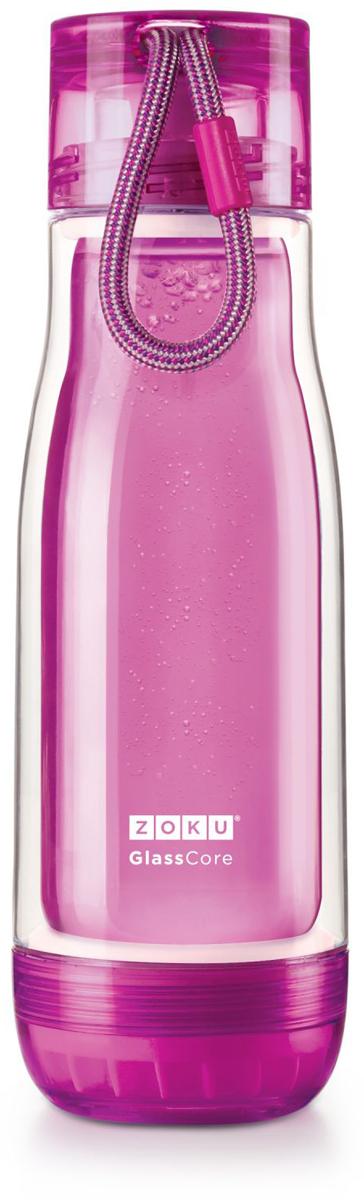 Бутылка для напитков Zoku, цвет: фиолетовый, 480 млZK128-PUКомпактная бутылка Zoku идеально подойдет для тех, кто регулярно занимается спортом и любит активный образ жизни. Бутылка выполнена из боросиликатного стекла и заключена в пластиковый корпус, укрепленный с двух сторон силиконовыми ударопрочными подкладками. Крышка полностью герметична, оснащена прочным и гибким шнурком для переноски и закрывается при повороте всего на 90° благодаря запатентованной технологии Rapid Lock. Защитная конструкция с двойными стенками помогает избежать конденсации и поддерживает температуру напитка в течение долгого времени. Бутылка совмещает в себе все преимущества стекла и пластика - она не накапливает запахи, ее легко мыть и удобно брать с собой. Объем - 480 мл. Не содержит вредных примесей и бисфенола-А. Не предназначена для газированных напитков. Не подходит для использования в морозильной камере и микроволновой печи. Моется вручную.