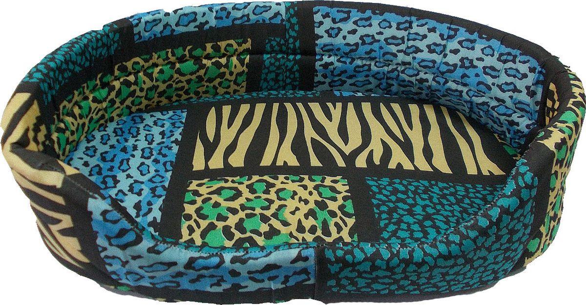 Лежак для животных Заря-Плюс, цвет: синий, желтый, черный, 39 х 25 х 11 смЛО1тсЛежак для животных Заря-Плюс выполнен из высококачественной бязи с наполнением из поролона и оформлен ярким принтом. В комплект с лежанкой входит съемная подстилка. Благодаря наполнению из поролона, лежак отлично держит форму. При необходимости лежанку с подушкой можно стирать при t-30градусов. Это очень уютное спальное место непременно понравится вашему любимцу.Размеры: длина - 39 см, ширина - 25 см, высота бортика - 11 см