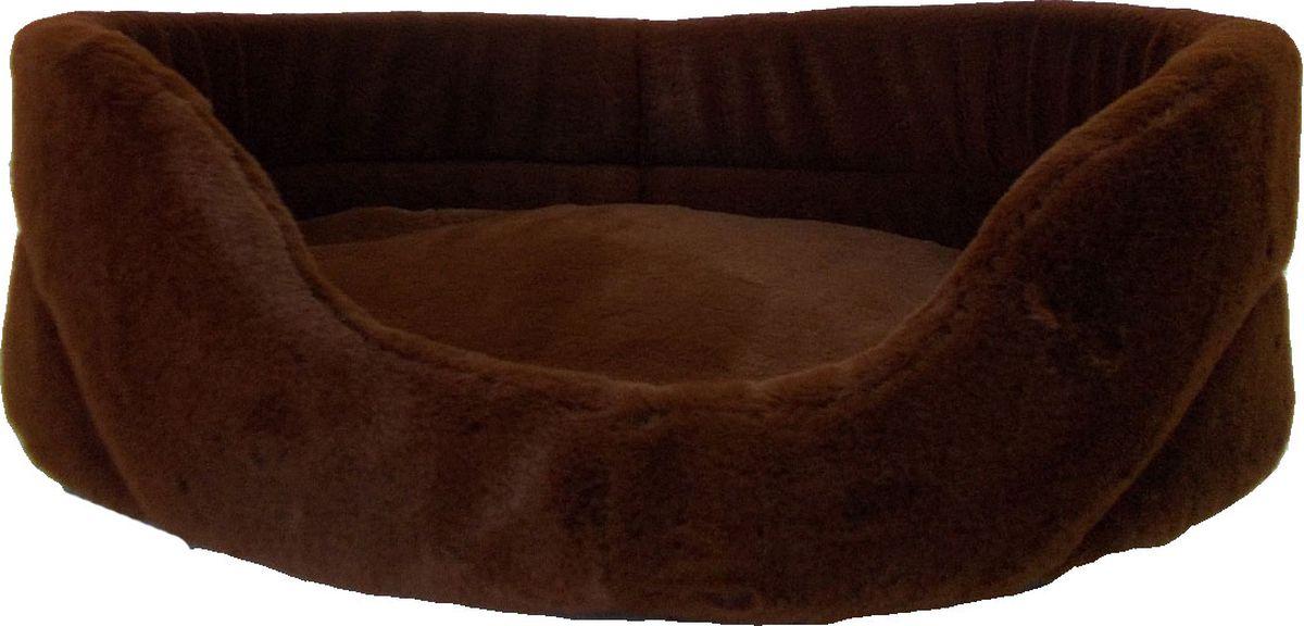 Лежак для животных Заря-Плюс Шоколад, цвет: коричневый, 48 х 34 х 15 смЛО2мшОчень уютная и мягкая лежанка для кошек и собак выполнена из высококачественного меха. В комплект с лежанкой входит съемная подушка. Внутри подушки находится поролон, благодаря чему лежанка отлично держит форму. При необходимости лежанку с подушкой можно стирать при t-30градусов. Это очень уютное спальное место непременно понравится Вашему любимцу. Размеры лежанки: длина - 48 см, ширина - 34 см, высота бортика - 15 см.
