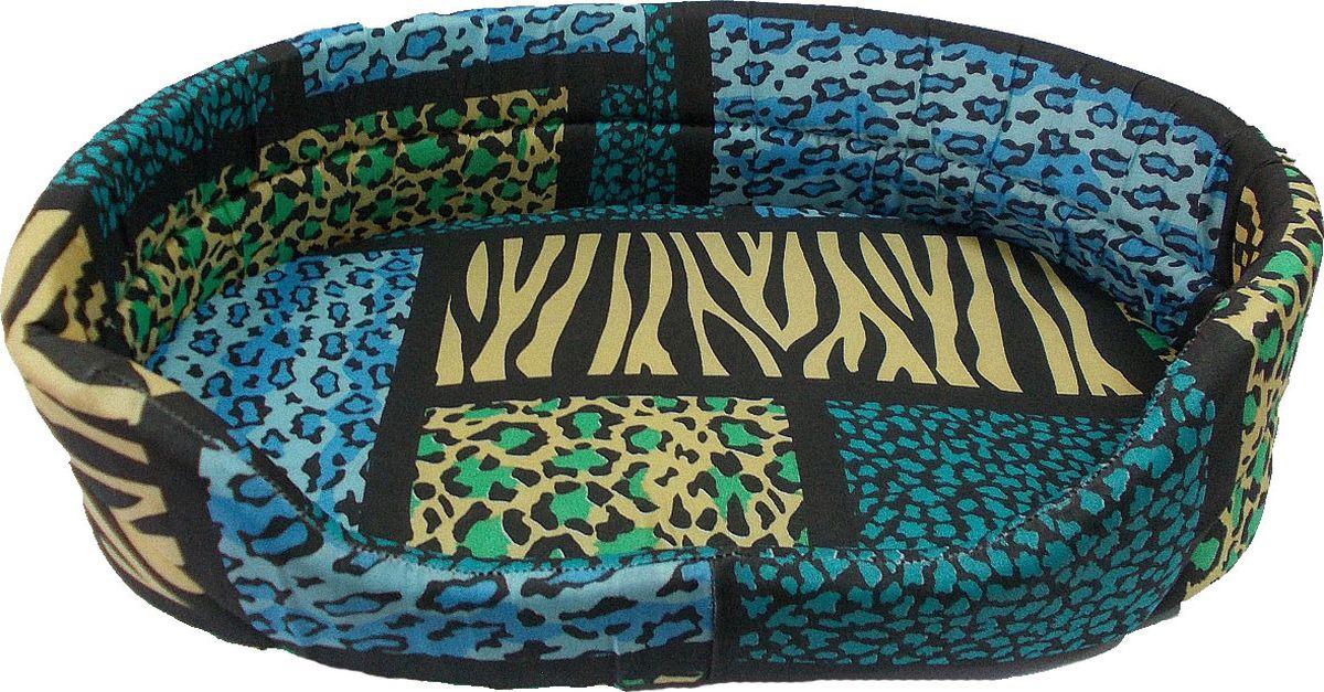 Лежак для животных Заря-Плюс, цвет: синий, желтый, черный, 48 х 34 х 14 смЛО2тсЛежак для животных Заря-Плюс выполнен из высококачественной бязи с наполнгенем из поролона и оформлен ярким принтом. В комплект с лежанкой входит съемная подстилка. Благодаря наполнению из поролона, лежак отлично держит форму. При необходимости лежанку с подушкой можно стирать при t-30градусов. Это очень уютное спальное место непременно понравится вашему любимцу.Размеры лежака: длина - 48 см, ширина - 34 см, высота бортика - 14 см.