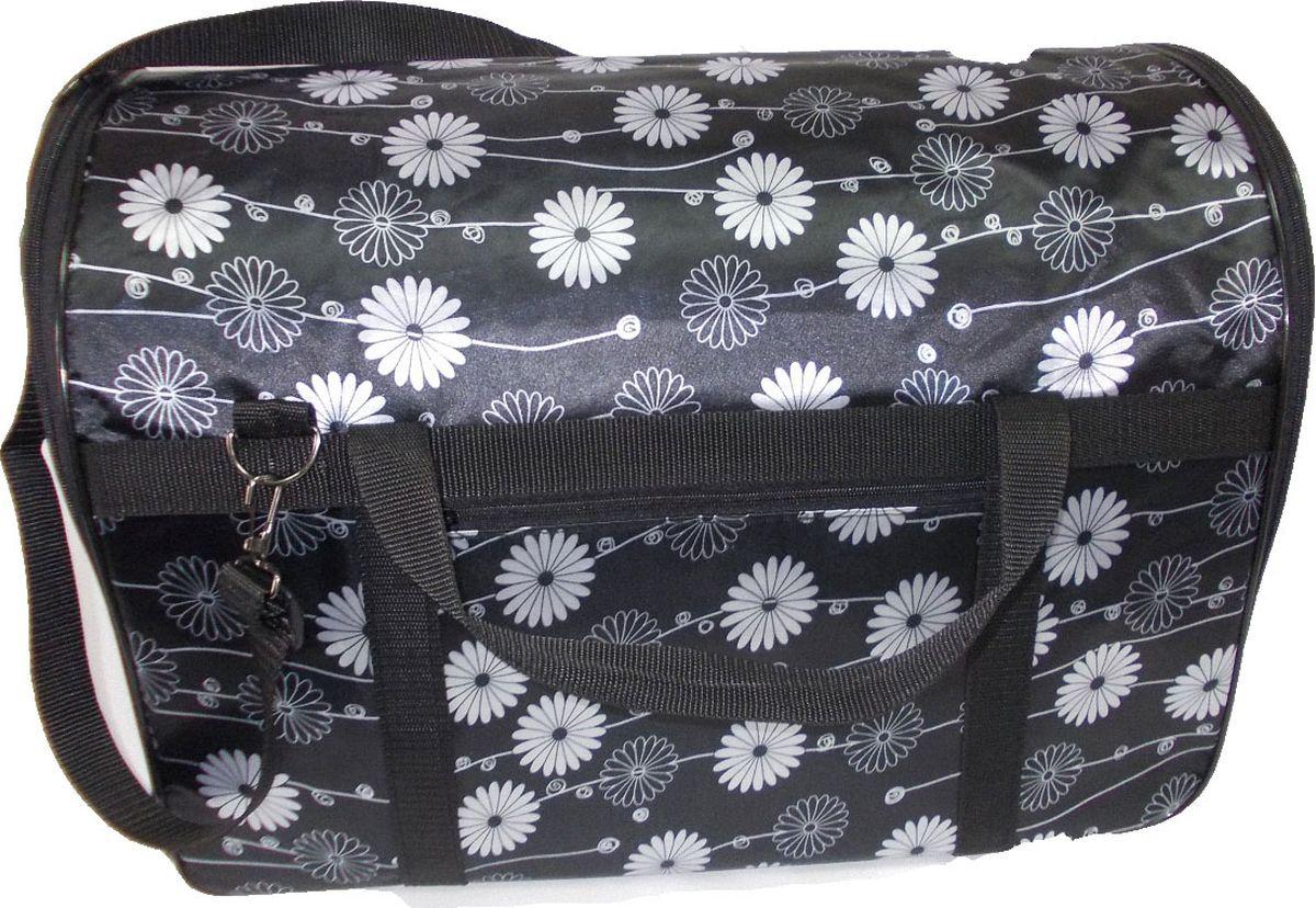 Переноска для животных Заря-Плюс, для мейн-кунов, цвет: черный, белый, 42 х 28 х 31 смСПК3Большая полукруглая сумка-переноска идеально подойдет для кошек крупных пород, например, для мейн-кунов. Сумка-переноска обладает рядом преимуществ: - сумка выполнена из водонепроницаемого материала; - верх сумки укреплен пластиковым каркасом, благодаря чему сумка прочно держит форму; - низ сумки укреплен ДВП-листом, благодаря чему сумка не прогибается под весом животного; - пластик из верхней части и ДВП-лист из нижней части можно вынуть, расстегнув молнию. Это дает возможность стирать сумку в машинах-автоматах; - боковая сторона сумки выполнена в виде сетчатого окна, что способствует свободному проникновению воздуха для вашего питомца; - для удобного хранения сумка расстегивается и становится плоской; - ручки позволяют носить сумку, как в руках, так и через плечо; - снаружи сумки имеется большой карман на молнии - внутри сумки закреплен поводок с карабином, защелкните карабин на ошейнике вашего любимца, и вы не будете переживать, что он вдруг вырвется из сумки.Размеры: длина - 54 см, ширина - 33 см, высота - 36 см.