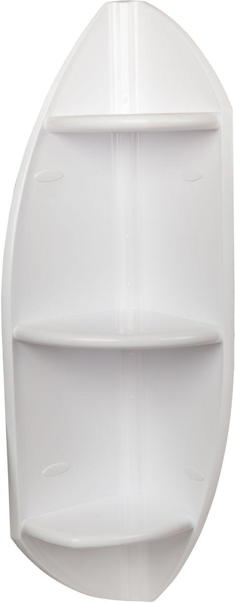 """Угловая полка """"Berossi"""", выполненная из из прочного пластика, органично впишется не только в ванную комнату, но и в оформление кухни, спальни или балкона. Сложная и оригинальная форма стенок привлекает внимание и делает стеллаж интересной деталью интерьера. Надежная конструкция и прочное крепление позволят устанавливать на полку даже такие тяжелые предметы, как горшки с цветами. Высота 90 см. Может устанавливаться горизонтально или вертикально. Выбор расцветок. Устойчива к воздействию влаги и температуры. Легко отмывает от загрязнений."""