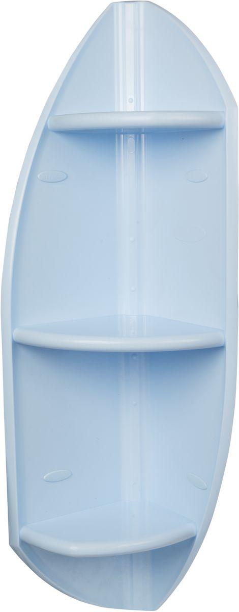 Полка для ванной комнаты Berossi, угловая, цвет: голубой, 32 х 32 х 90,3 смАС 13008000Полка для ванной комнаты Berossi, выполненная из прочного пластика, органично впишется не только в ванную комнату, но и в оформление кухни, спальни или балкона. Сложная и оригинальная форма стенок привлекает внимание и делает стеллаж интересной деталью интерьера. Надежная конструкция и прочное крепление позволят устанавливать на полку даже такие тяжелые предметы, как горшки с цветами. Высота 90 см. Может устанавливаться горизонтально или вертикально. Выбор расцветок. Устойчива к воздействию влаги и температуры. Легко отмывает от загрязнений.
