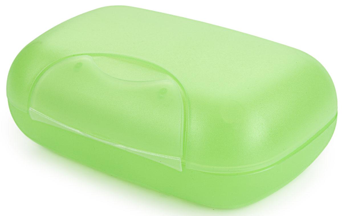 Мыльница Berossi Voyage, цвет: зеленый, 12 х 8 х 4,5 смАС 21743000Практичная мыльница Voyage- это не только предмет обихода, но и незаменимый спутник в различных поездках. Матовый пластик с легкой шероховатостью не скользит в руках, а прочно закрывающаяся крышка надежно сохраняет мыло внутри.