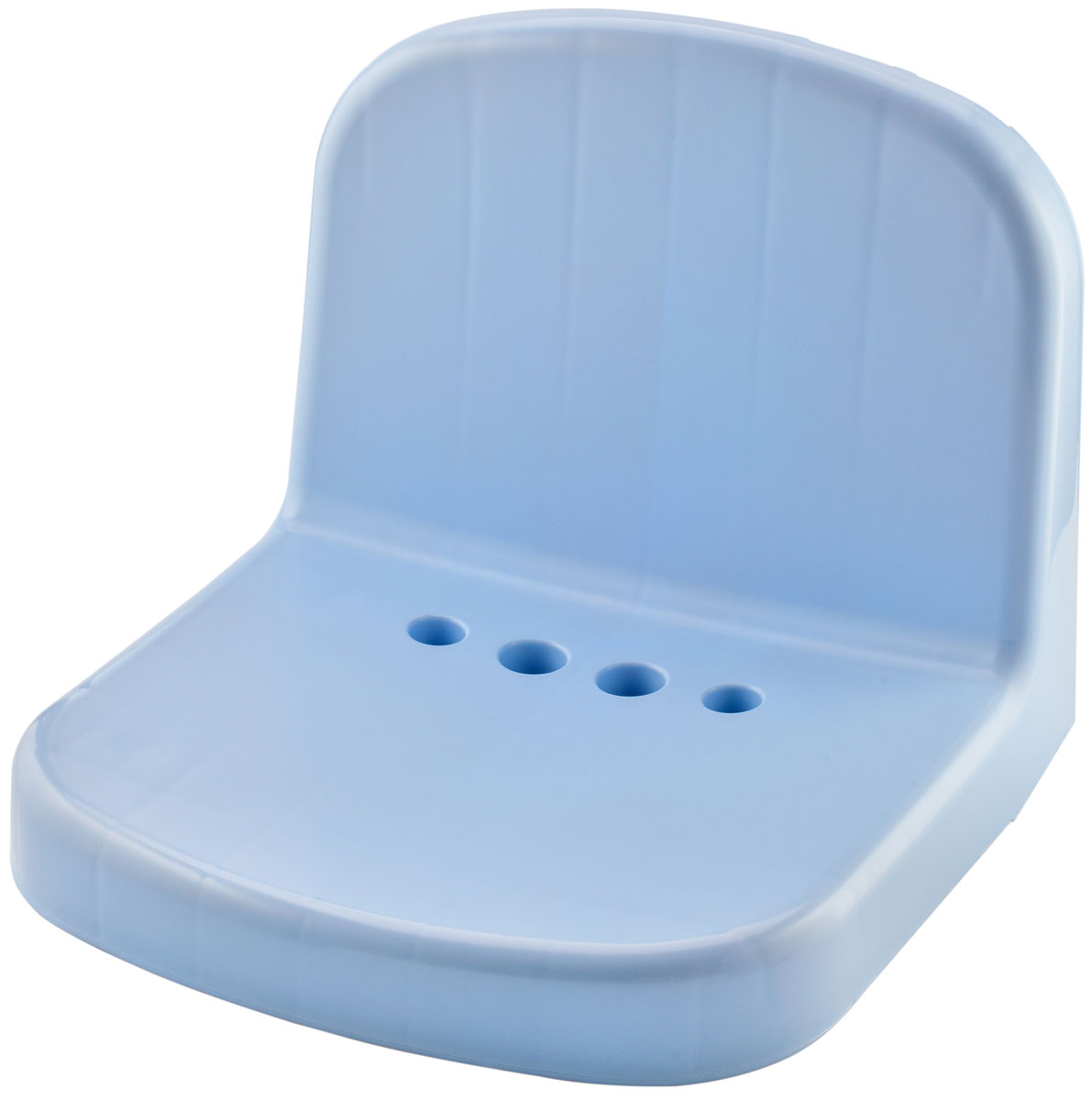 Сиденье для душевой кабины Berossi Molly, цвет: голубой, 35 х 36 х 30 смАС 23408000Сиденье для душевой кабины Berossi Molly используется в бане, у бассейна, на балконе или в ванной комнате.Этот аксессуар способен повысить уровень комфорта во много раз. В душевой он будет необходим людям преклонного возраста или с ограниченными возможностями. Оценят его и женщины, ведь делать маникюр или педикюр, сидя на таком стульчике, намного удобнее. Среди прочих достоинств: отверстия округлой формы в основании сиденья для оттока воды;пластик, из которого выполнено изделие, моментально прогревается, быстро высыхает и не ржавеет от воздействия влаги; специальная обработка поверхности сиденья предотвращает скольжение на нем даже при значительном уровне влажности; спинка позволяет избежать контакта с холодной стеной и комфортом расслабиться, давая отдых спине; монолитная конструкция с отсутствием стыков упрощает уход за изделием, которое легко моется стандартными моющими средствами. Сиденья Molly выполнены из высококачественного пластика, выдерживающего нагрузку до 150 кг. В комплект входит инструкция на этикетке и все необходимые шурупы и дюбели для надежной фиксации изделия к стене.