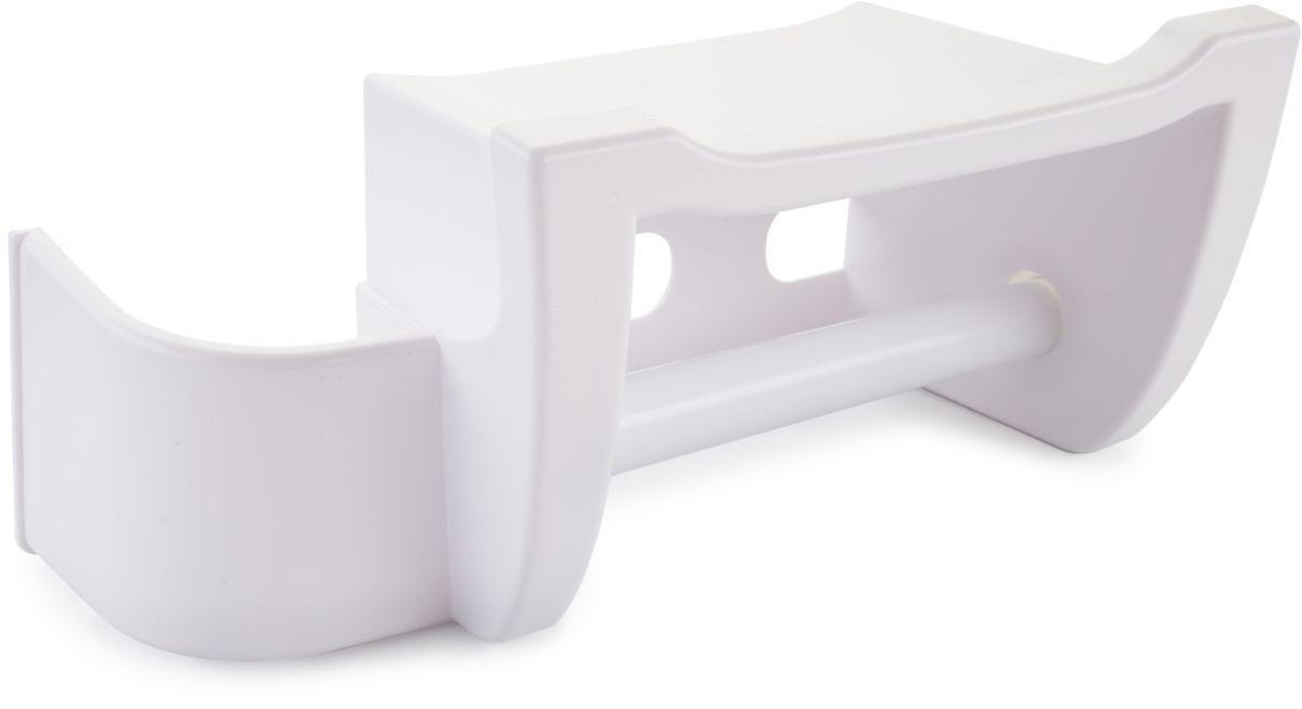 Полка для туалета Berossi Mira, цвет: белый, 26 х 12 х 12,3 смАС 25001010Многофункциональные полки Berossi Mira совмещают в себе отделение для навешивания рулона туалетной бумаги, держатель для освежителя воздуха и полочку для гаджетов, гигиенических принадлежностей и прочих предметов небольшого размера. Прочная направляющая большого диаметра делает вращение рулона плавным и равномерным. Небольшой бортик на полочке предохранит лежащие на ней вещи от соскальзывания. Высокая стенка отделения-держателя для освежителя позволяет ставить в него даже баллоны нестандартной высоты.