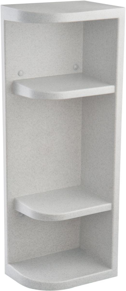 Полка для ванной комнаты Berossi Hilton Universal, угловая, цвет: белый мрамор, 13 х 19,4 х 55 смАС 33004000Полка угловая Berossi Hilton Universal изготовлена из высококачественного пластика и имеет угловую конструкцию. Полка не теряет внешний вид от воздействия пара и высоких температур. Не разбухает от контакта с водой. Устойчива к прямому попаданию моющих жидкостей и прочих средств бытовой химии. Разные габариты секций (224 мм и 2х130 мм) позволяют разместить на полках предметы любой высоты. Возможно как вертикальное, под любой угол помещения, так и горизонтальное размещение. Четыре сквозных отверстия для навешивания гарантируют надежное крепление к стене даже полностью загруженной полки.