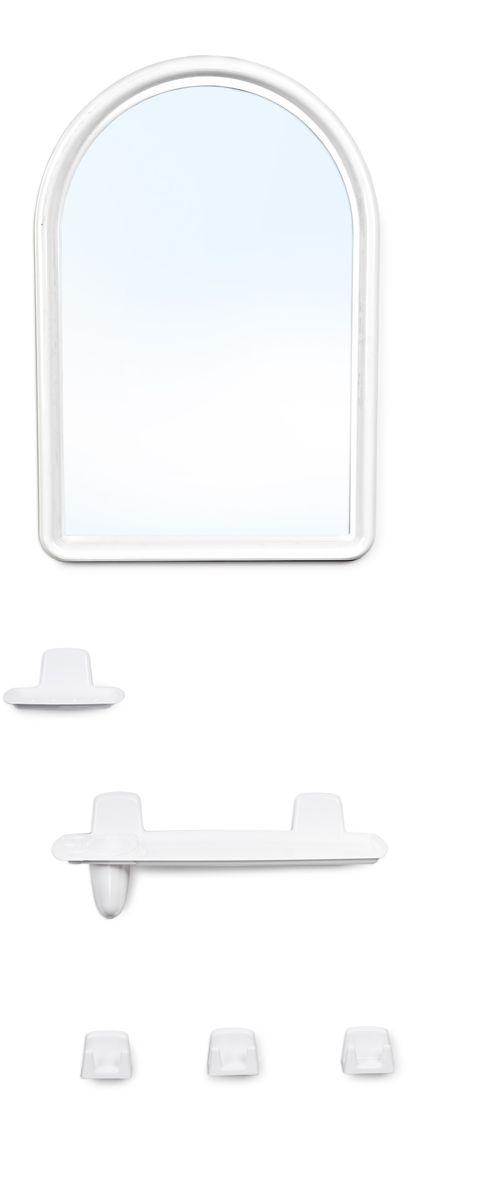 Набор для ванной комнаты Berossi, цвет: белый, 6 предметовНВ 05601000Набор для ванной комнаты Berossi включает в себя все необходимое, чтоб каждый день радовать вас удобством и качеством. Универсальный дизайн подойдёт под любую ванную комнату. Входящие в комплект крепеж зеркала и аксессуаров позволят надежно закрепить все детали там, где вам будет комфортней.В комплект входят: Полка под зеркалом с отверстиями для зубных щеток и стакана, Стакан, Три усиленных крючка, Крепеж зеркала и аксессуаров в комплекте.
