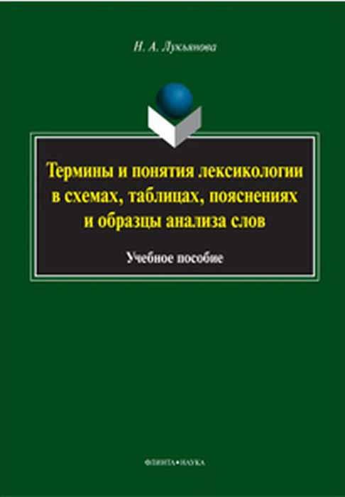 Термины и понятия лексикологии в схемах, таблицах, пояснениях и образцы анализа слов. Учебное пособие