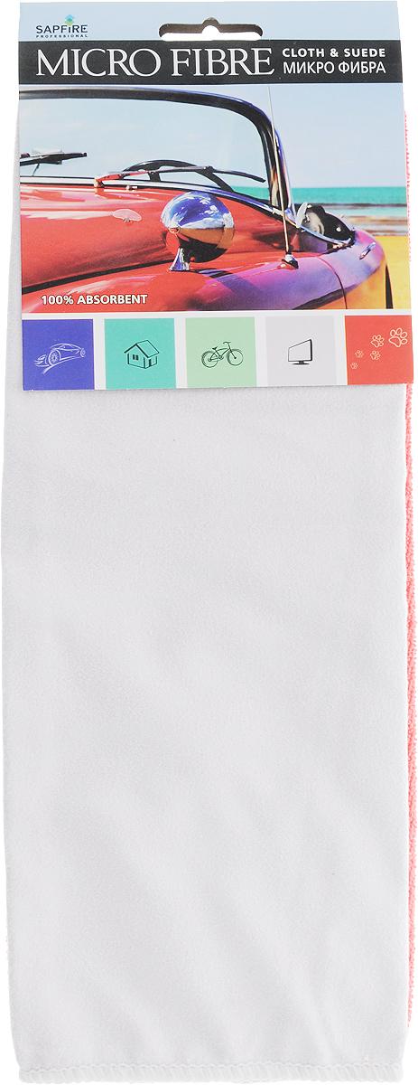 Салфетка чистящая Sapfire Cleaning Сloth & Suede, цвет: коралловый, серый, 35 х 40 см, 2 шт3069-SFM_коралловый, серыйНабор Sapfire Cleaning Сloth & Suede состоит из салфетки для удаления влаги и замшевой салфетки для деликатных поверхностей. Салфетки выполнены из микрофибры (85% полиэстер и 15% полиамид). Специальная технология изготовления микрофибры гарантирует великолепные чистящие и адсорбирующие свойства, повышенную мягкость, плотность и длительность использования. Салфетки прекрасно подходят для мытья и полировки автомобиля, а также поверхностей в доме: ими удобно протирать аппаратуру, бытовую технику, мебель, очищать различные поверхности на кухне. Материал салфеток обладает уникальной способностью быстро впитывать большой объем жидкости. Замшевую салфетку рекомендуется использовать только в сухом виде. Клиновидные микроскопические волокна захватывают и легко удерживают частички пыли, жировой и никотиновый налет, микроорганизмы, в том числе болезнетворные и вызывающие аллергию. Протертая поверхность становится идеально чистой, сухой, блестящей, без разводов и ворсинок. Допускается машинная и ручная стирка слабым моющим раствором в теплой воде. Отбеливание и глажка запрещены.