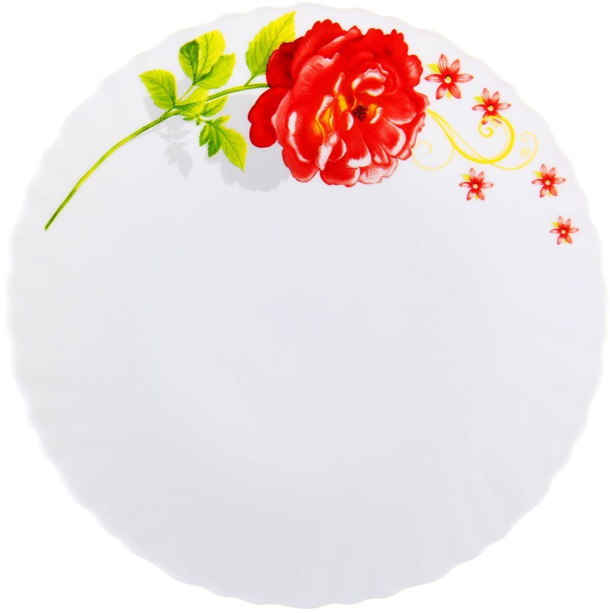 Тарелка десертная Китайская роза, диаметр 17,5 см1152120Тарелка – важнейший предмет любого застолья. Будучи во главе стола, она привлекает к себе основное внимание. А это значит – рисунок, цвет и материал играют немаловажную роль.Почему во всем мире так ценится посуда из стеклокермики?Универсальна. Ее можно использовать и для приготовления пищи, и для безопасного хранения любых готовых блюд. В такой посуде можно кипятить, варить, жарить парить, тушить и запекать любые продукты.Ударопрочна и травмобезопасна. Термическое стекло – очень прочный материал, который не поддается механическим нагрузкам, не бьется, не колется и не трескается.Термически устойчива (жаропрочна). Посуда не деформируется при нагреве и подходит для СВЧ-печей.Химически инертна. Стеклянные поверхности посуды совершенно нечувствительны к воздействию моющих и чистящих средств.Экологически и гигиенически безопасна. Стеклокерамика – исключительно «чистый» материал, не выделяющий вредных летучих соединений даже при сильном нагреве, не впитывает запахов и не передает их хранящейся или готовящейся пище.Удобна в уходе. Моется обычной теплой водой, не формирует накипь и нагар.Эстетически привлекательна. Прозрачное, матовое и тонированное термическое стекло имеет оригинальный вид, который сохраняется в любых технических условиях на долгие годы.