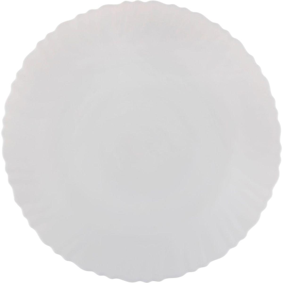 Тарелка Дива, диаметр 26 см1152121Тарелка – важнейший предмет любого застолья. Будучи во главе стола, она привлекает к себе основное внимание. А это значит – рисунок, цвет и материал играют немаловажную роль.Почему во всем мире так ценится посуда из стеклокермики?Универсальна. Ее можно использовать и для приготовления пищи, и для безопасного хранения любых готовых блюд. В такой посуде можно кипятить, варить, жарить парить, тушить и запекать любые продукты.Ударопрочна и травмобезопасна. Термическое стекло – очень прочный материал, который не поддается механическим нагрузкам, не бьется, не колется и не трескается.Термически устойчива (жаропрочна). Посуда не деформируется при нагреве и подходит для СВЧ-печей.Химически инертна. Стеклянные поверхности посуды совершенно нечувствительны к воздействию моющих и чистящих средств.Экологически и гигиенически безопасна. Стеклокерамика – исключительно «чистый» материал, не выделяющий вредных летучих соединений даже при сильном нагреве, не впитывает запахов и не передает их хранящейся или готовящейся пище.Удобна в уходе. Моется обычной теплой водой, не формирует накипь и нагар.Эстетически привлекательна. Прозрачное, матовое и тонированное термическое стекло имеет оригинальный вид, который сохраняется в любых технических условиях на долгие годы.