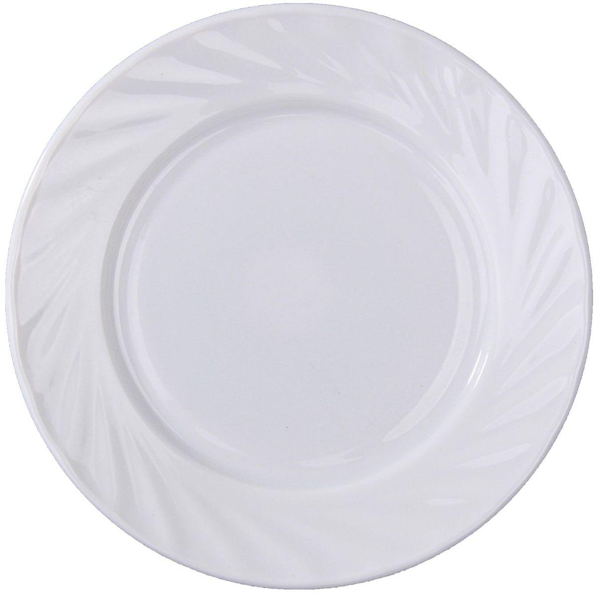 Тарелка десертная Регал, диаметр 17,5 см122416Тарелка – важнейший предмет любого застолья. Будучи во главе стола, она привлекает к себе основное внимание. А это значит – рисунок, цвет и материал играют немаловажную роль.Почему во всем мире так ценится посуда из стеклокермики?Универсальна. Ее можно использовать и для приготовления пищи, и для безопасного хранения любых готовых блюд. В такой посуде можно кипятить, варить, жарить парить, тушить и запекать любые продукты.Ударопрочна и травмобезопасна. Термическое стекло – очень прочный материал, который не поддается механическим нагрузкам, не бьется, не колется и не трескается.Термически устойчива (жаропрочна). Посуда не деформируется при нагреве и подходит для СВЧ-печей.Химически инертна. Стеклянные поверхности посуды совершенно нечувствительны к воздействию моющих и чистящих средств.Экологически и гигиенически безопасна. Стеклокерамика – исключительно «чистый» материал, не выделяющий вредных летучих соединений даже при сильном нагреве, не впитывает запахов и не передает их хранящейся или готовящейся пище.Удобна в уходе. Моется обычной теплой водой, не формирует накипь и нагар.Эстетически привлекательна. Прозрачное, матовое и тонированное термическое стекло имеет оригинальный вид, который сохраняется в любых технических условиях на долгие годы.