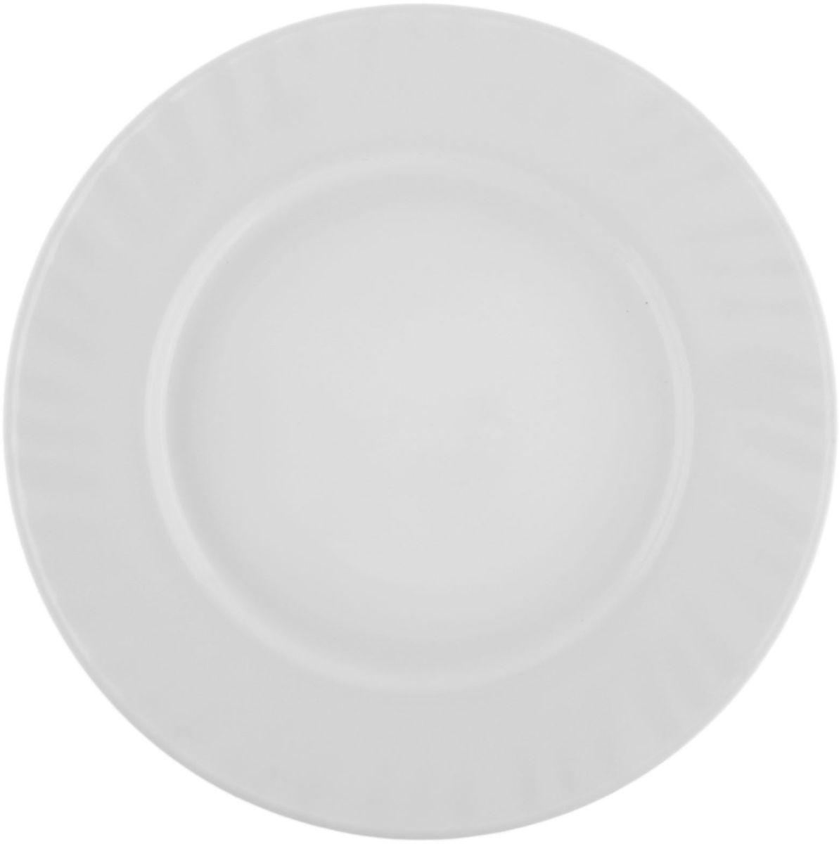 Тарелка Регал, диаметр 23 см122419Тарелка – важнейший предмет любого застолья. Будучи во главе стола, она привлекает к себе основное внимание. А это значит – рисунок, цвет и материал играют немаловажную роль.Почему во всем мире так ценится посуда из стеклокермики?Универсальна. Ее можно использовать и для приготовления пищи, и для безопасного хранения любых готовых блюд. В такой посуде можно кипятить, варить, жарить парить, тушить и запекать любые продукты.Ударопрочна и травмобезопасна. Термическое стекло – очень прочный материал, который не поддается механическим нагрузкам, не бьется, не колется и не трескается.Термически устойчива (жаропрочна). Посуда не деформируется при нагреве и подходит для СВЧ-печей.Химически инертна. Стеклянные поверхности посуды совершенно нечувствительны к воздействию моющих и чистящих средств.Экологически и гигиенически безопасна. Стеклокерамика – исключительно «чистый» материал, не выделяющий вредных летучих соединений даже при сильном нагреве, не впитывает запахов и не передает их хранящейся или готовящейся пище.Удобна в уходе. Моется обычной теплой водой, не формирует накипь и нагар.Эстетически привлекательна. Прозрачное, матовое и тонированное термическое стекло имеет оригинальный вид, который сохраняется в любых технических условиях на долгие годы.