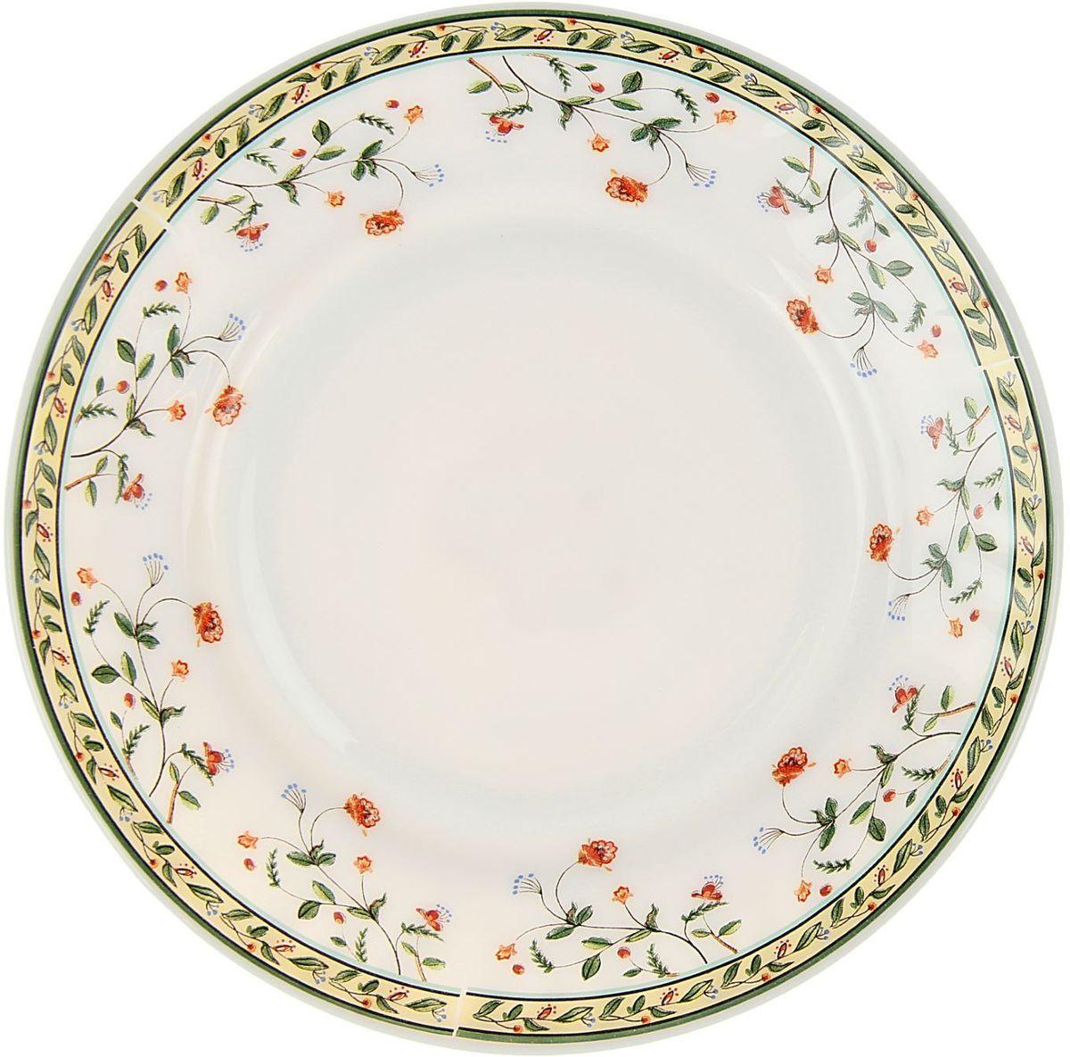 Тарелка десертная Винтаж, диаметр 17,5 см1546291Десертная тарелка Винтаж выполнена з керамики. Ее можно использовать и для приготовления пищи, и для безопасного хранения любых готовых блюд. Ударопрочна и травмобезопасна. Термическое стекло – очень прочный материал, который не поддается механическим нагрузкам, не бьется, не колется и не трескается.Тарелка термически устойчива (жаропрочна). Посуда не деформируется при нагреве и подходит для СВЧ-печей.Химически инертна. Стеклянные поверхности посуды совершенно нечувствительны к воздействию моющих и чистящих средств.Экологически и гигиенически безопасна. Стеклокерамика – исключительно «чистый» материал, не выделяющий вредных летучих соединений даже при сильном нагреве, не впитывает запахов и не передает их хранящейся или готовящейся пище.Удобна в уходе. Моется обычной теплой водой, не формирует накипь и нагар.Эстетически привлекательна. Прозрачное, матовое и тонированное термическое стекло имеет оригинальный вид, который сохраняется в любых технических условиях на долгие годы.