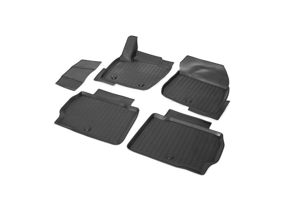 Коврики салона Rival для Ford Mondeo 2015-, c перемычкой, полиуретан брызговики и коврики салона в ростове ниссан теана