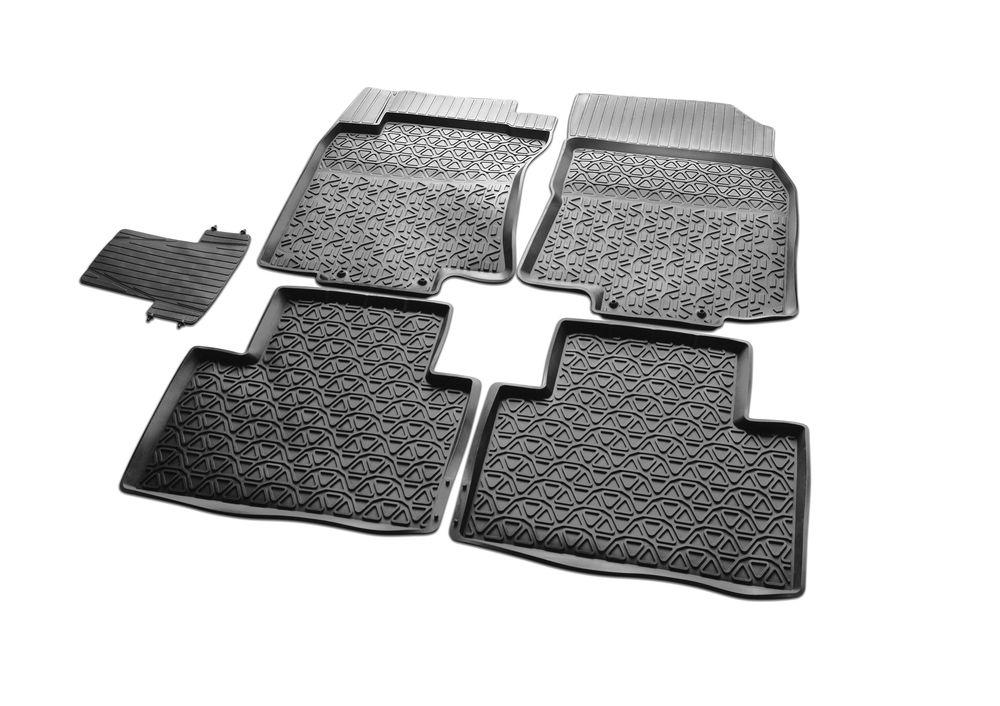 Коврики в салон автомобиля Rival, для Nissan X-Trail 2015->, с перемычкой, 5 шт64109001Коврики изготовлены из высококачественного и экологичного сырья с использованием технологии высокоточного литься под давлением, полностью повторяют геометрию салона вашего автомобиля.- Усиленная зона подпятника под педалями защищает наиболее подверженную истиранию область.- Надежная система крепления, позволяющая закрепить коврик на штатные элементы фиксации, в результате чего отсутствует эффект скольжения по салону автомобиля.- Высокая стойкость поверхности к стиранию.- Специализированный рисунок и высокий борт, препятствующие распространению грязи и жидкости по поверхности коврика.- Произведены из первичных материалов, в результате чего отсутствует неприятный запах в салоне автомобиля.- Перемычка задних ковриков в комплекте предотвращает загрязнение тоннеля карданного вала.- Высокая эластичность, можно беспрепятственно эксплуатировать при температуре от -45 C до +45 C.Уважаемые клиенты!Обращаем ваше внимание, что коврики имеет форму соответствующую модели данного автомобиля. Фото служит для визуального восприятия товара.