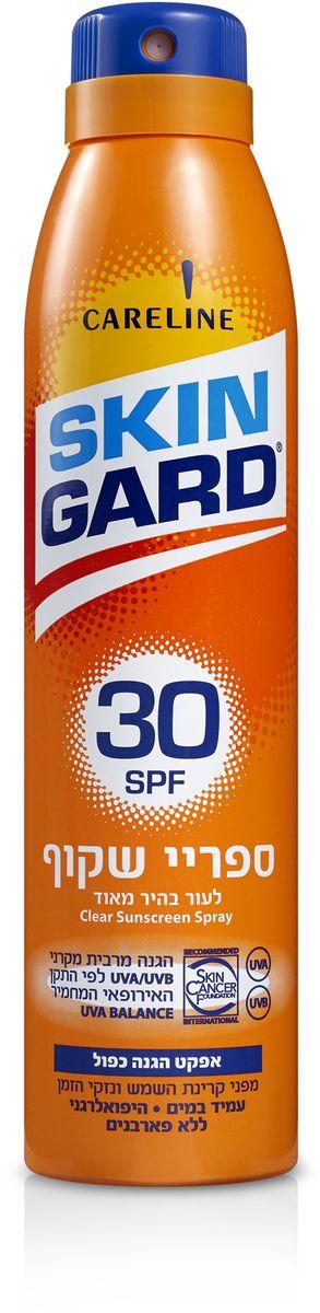 Skin Gard Солнцезащитный прозрачный спрей для тела SPF 30, 200 мл6020001038Солнцезащитный прозрачный спрей равномерно распределяет защиту на коже, не оставляет липкости и чувство дискомфорта. Обеспечивает 100% защиту от UVA, UVB излучений. Контролирует выработку меланина, препятствуя разрастанию пигментных пятен. Создаёт водонепроницаемое покрытие, устойчивое к повышенной влажности и температуре воздуха. Успокаивает и охлаждает чувствительную кожу, оставляя чувство комфорта. «Рекомендовано Skin Cancer Foundation» (Международный фонд по борьбе с онкологией). Это означает, что эта продукция соответствует самым жестким критериям безопасности и эффективности.