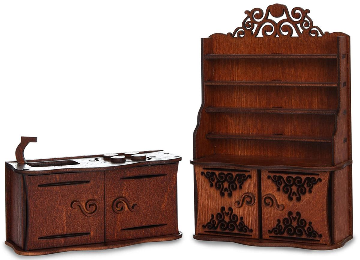 Zakazat.ru: ЯиГрушка Мебель для кукол Кухня цвет коричневый