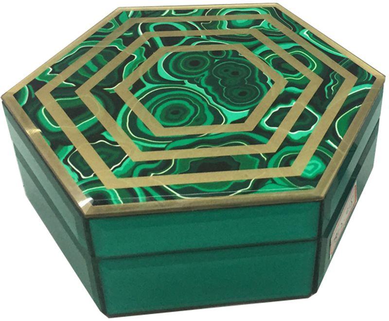 Шкатулка декоративная Magic Home Изумруд, 18 х 15,5 х 7,5 см шкатулки magic home шкатулка дождь в париже