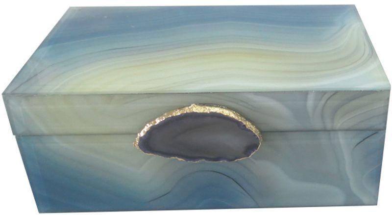 Шкатулка декоративная Magic Home Дымчатый агат, 21 х 13 х 8,5 см шкатулки magic home шкатулка дождь в париже