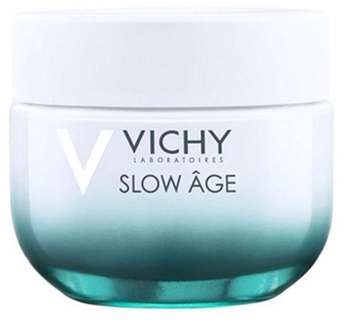 Vichy Slow age крем против признаковстарения SPF30 для нормальной и сухой кожи 50 млM9170500Слоу Аж Крем для сухой кожи- это 1-й укрепляющий крем от VICHY, корректирующий не только видимые, но и зарождающиеся признаки старения. Оказывает укрепляющее воздействие против признаков старения: морщины, неровная текстура, потеря упругости, пигментные пятна, тусклый цвет лица.- Корректирует признаки старения на разных стадиях их формирования: от тех, которые только зарождаются, до тех, которые уже проявились на поверхности кожи. - Антиоксидант BAICALIN в сочетании с общепризнанными антиоксидантами витаминами С и Е способствует нейтрализации процессов окисления в коже. - Пробиотик BIFIDUS снижает чувствительность и укрепляет защитный барьер кожи, тем самым усиливая сопротивляемость воздействию внешних факторов. - Минерализирующая термальная вода VICHY, обогащенная 15 минералами, нормализует рН-баланс и укрепляет межклеточные связи в коже. - SPF 30 – фильтр защиты от УФ-излучения.