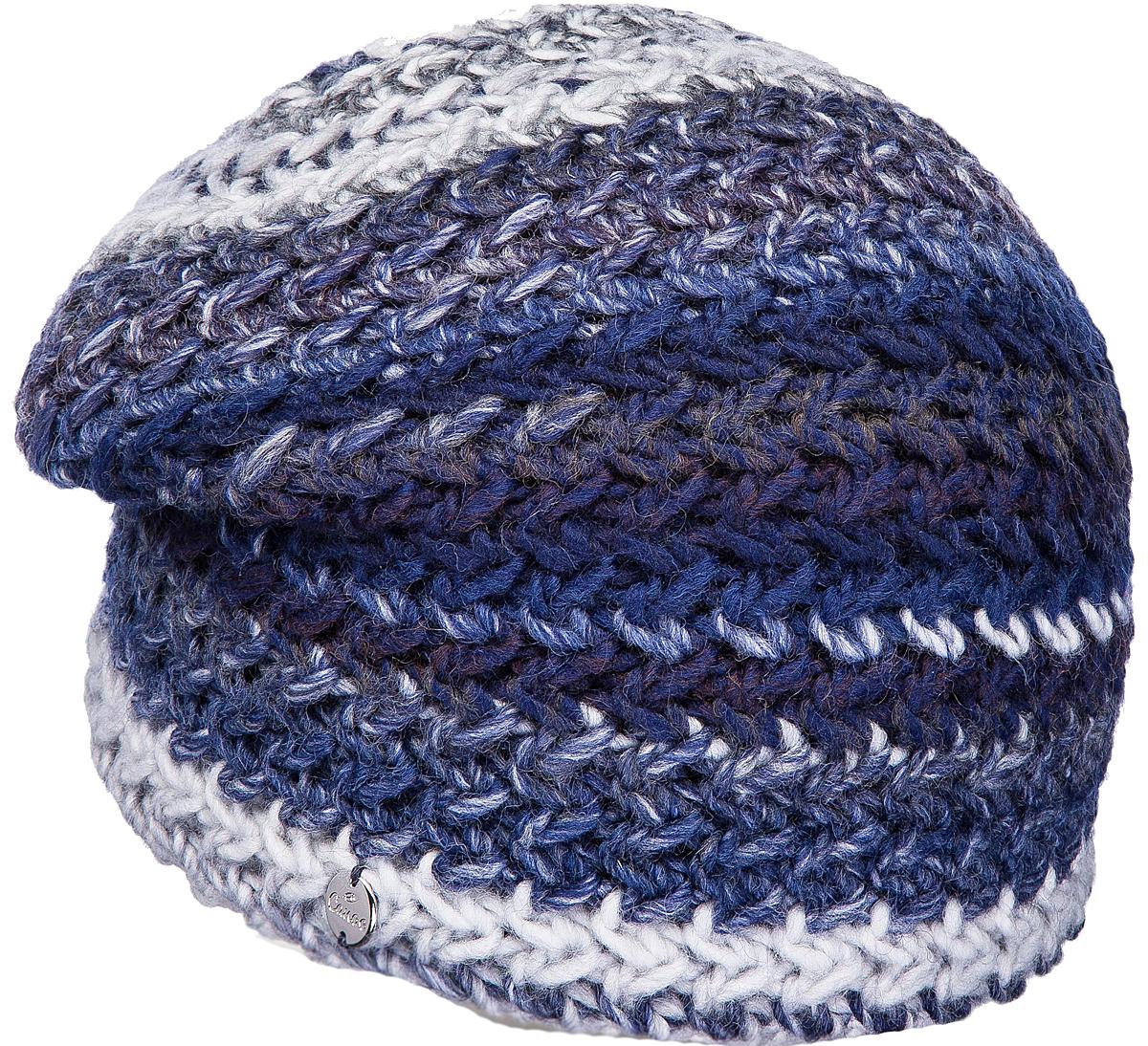 Шапка женская Canoe Dep, цвет: темно-синий. 4714841. Размер 56/584714841Удлинённая двухслойная шапочка из высококачественной итальянской полушерстяной пряжи, имеющей эффект радуги. Невероятно тёплая, с необычными цветовыми сочетаниями и смелыми переходами, модель - создаст комфорт и выделит вас из серой массы. Все изделия проходят предварительную стирку и последующую обработку специальными составами и паром для улучшения износоустойчивости, комфорта и приятных тактильных ощущений. Структура шерсти после обработок по новейшим технологиям приобретает лёгкость, мягкость, морозоустойчивость, становится пушистой, не продуваемой. Изделия долго сохраняют заданную форму.Уважаемые клиенты!Размер, доступный для заказа, является обхватом головы.