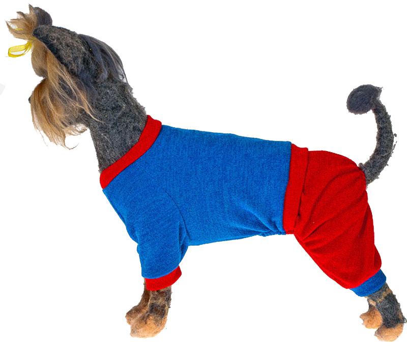Свитер для собак Happy Puppy Шарли, унисекс, цвет: голубой, красный. Размер XL